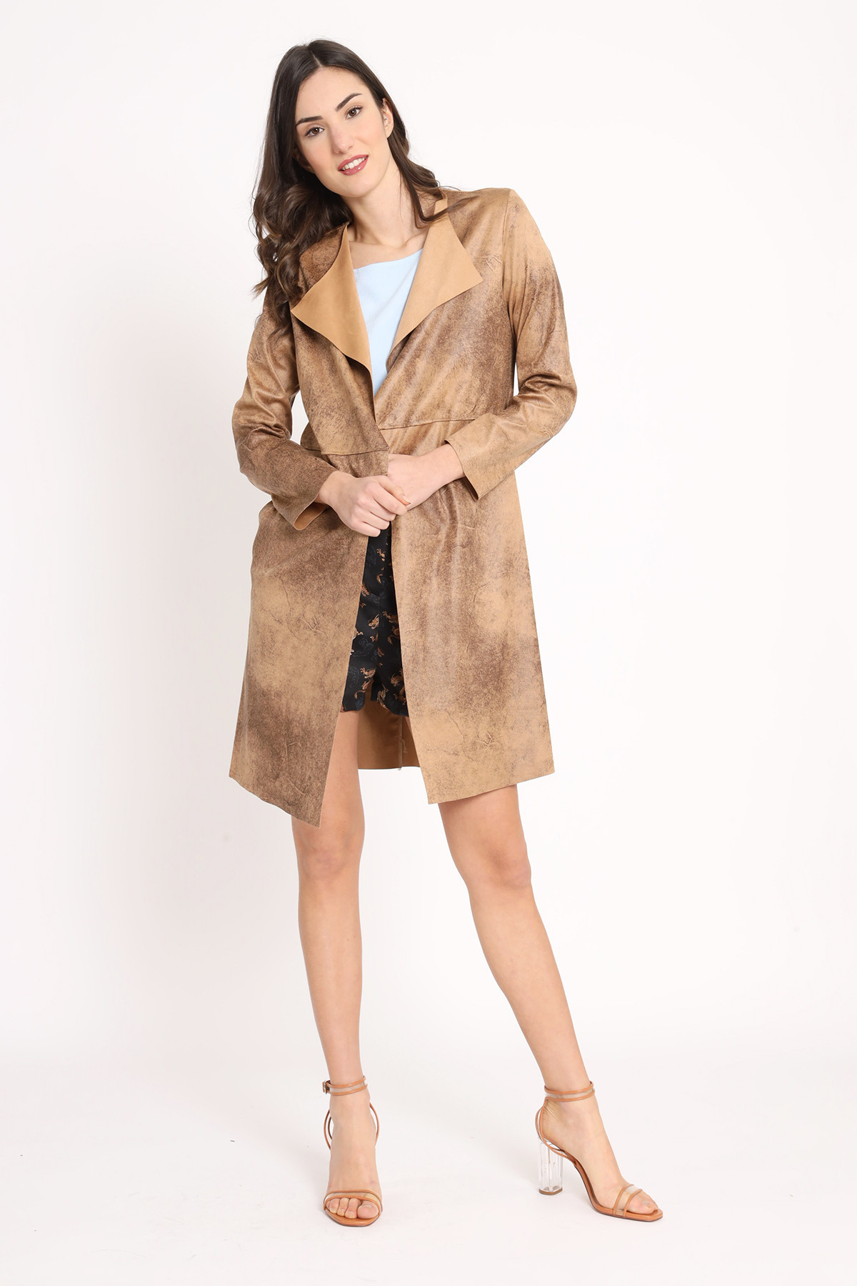 Duster in Aged Eco Leather