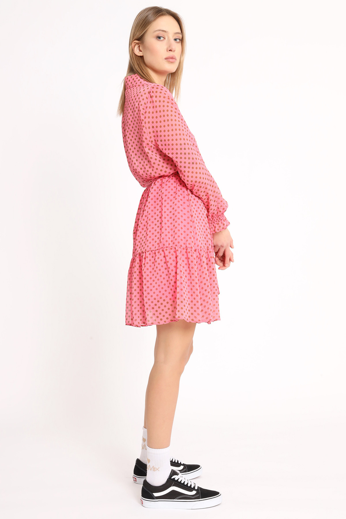 Georgette Polka Dot Dress