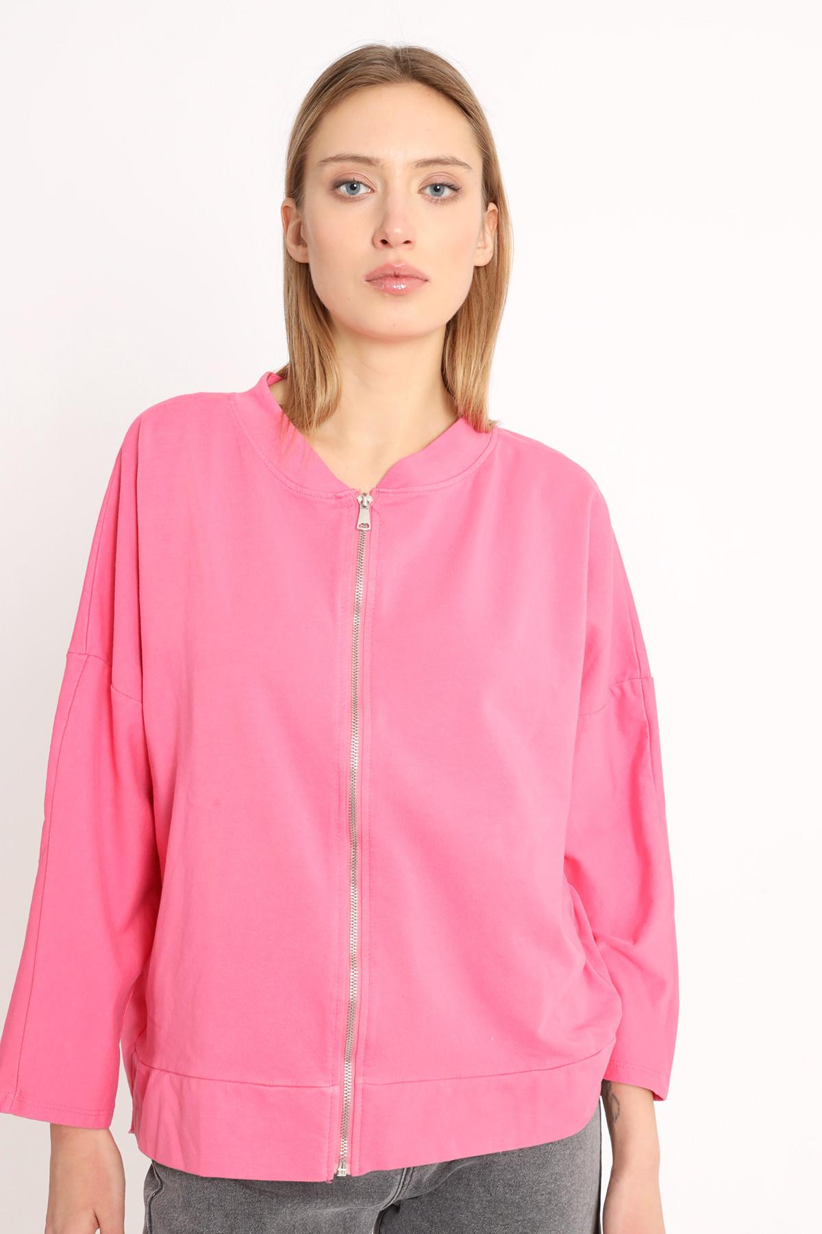 Full Zip Raglan Sleeve Sweatshirt