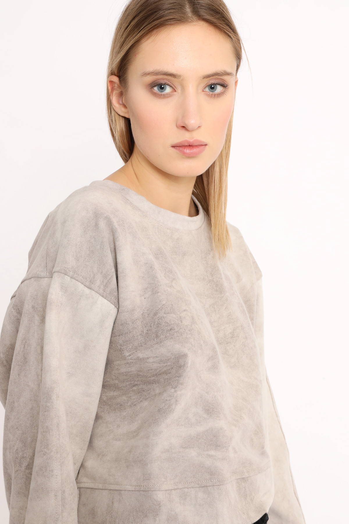 Marbled Crewneck Sweatshirt