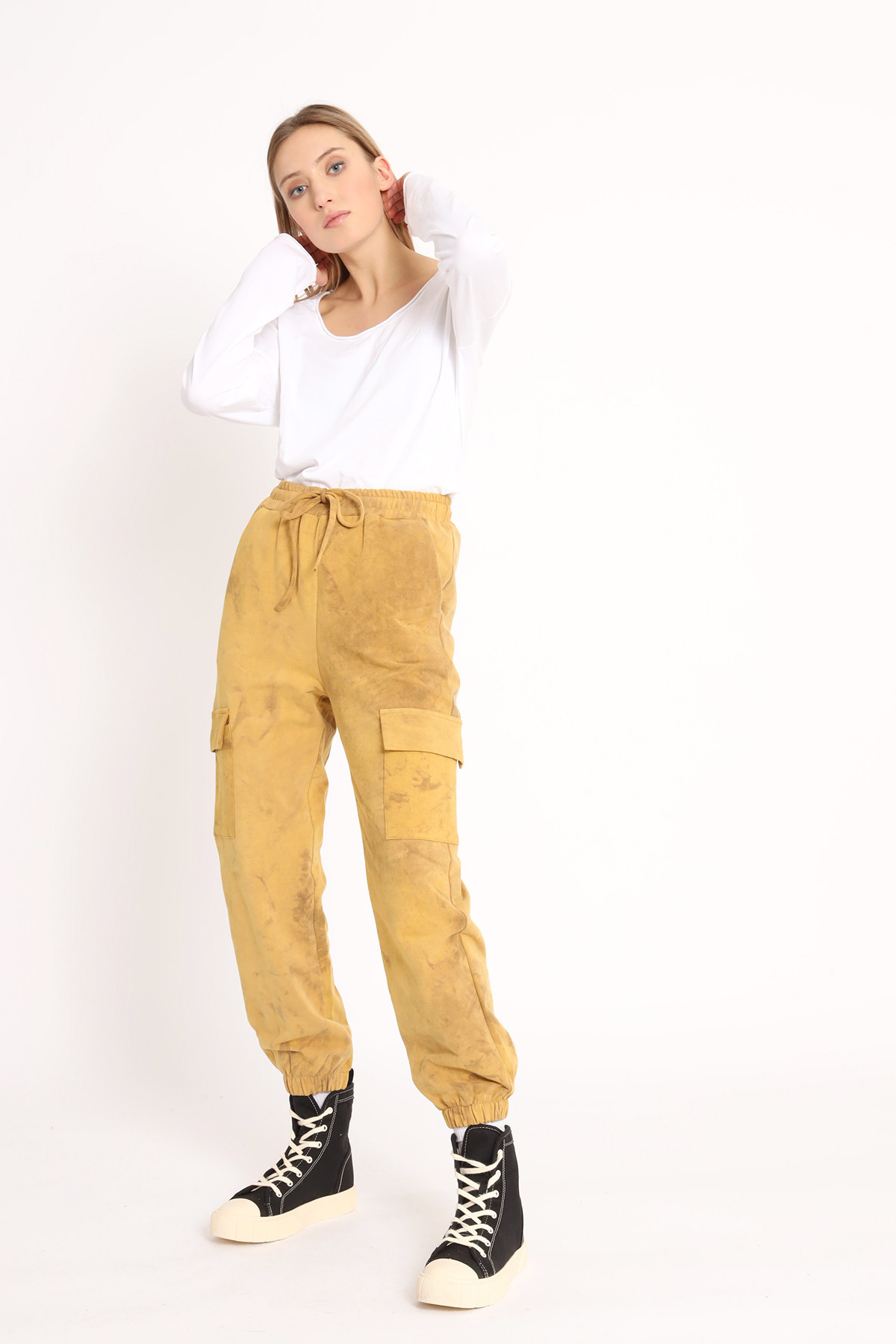 Marbled Cargo Suit Trousers