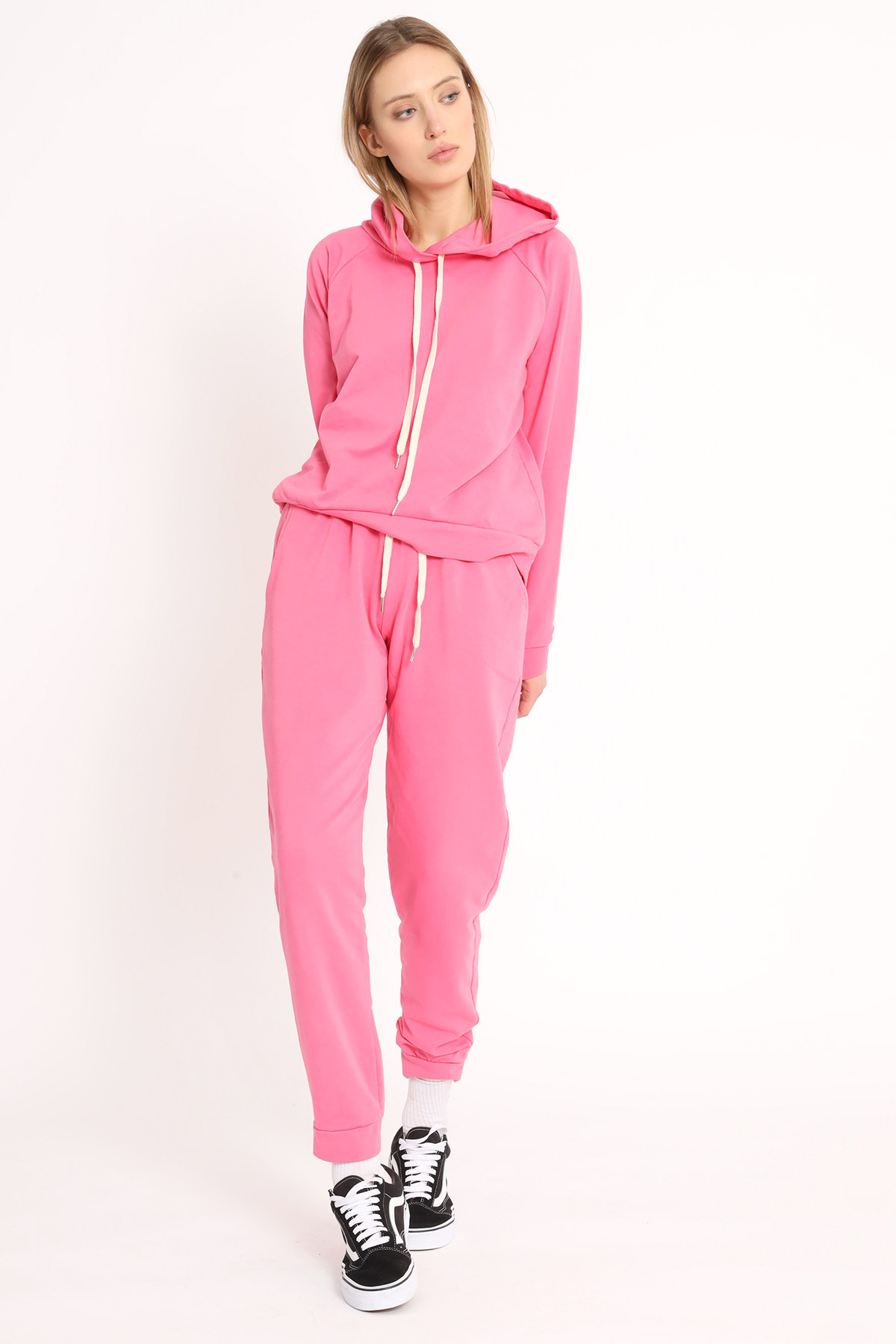 Complete Tracksuit With Hooded Sweatshirt Jogging Pants