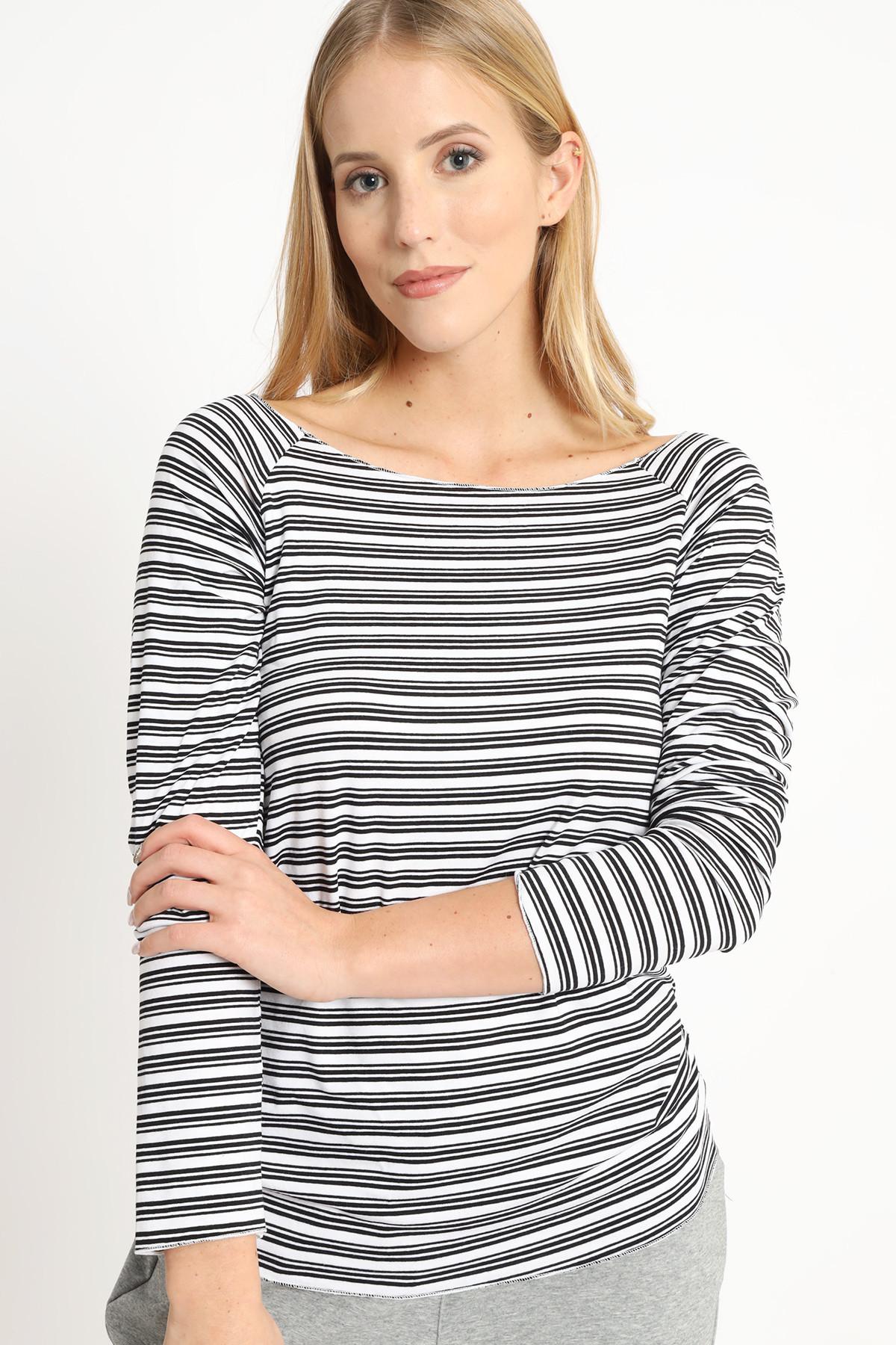 Striped Boat Neck Sweater