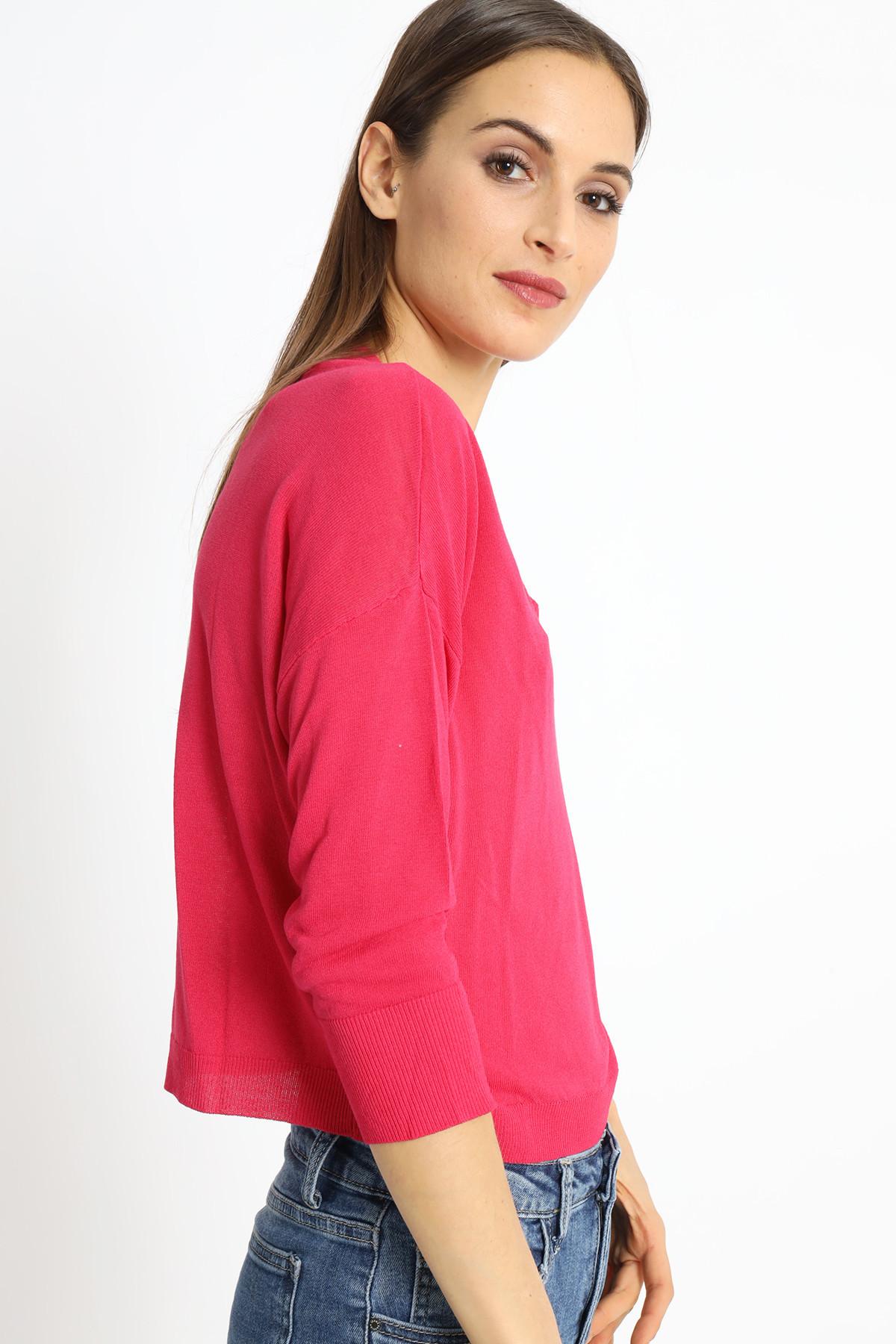 V-neck sweater in viscose