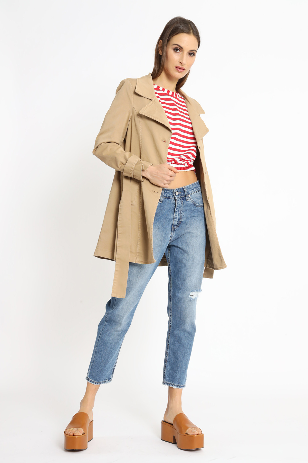 Canvas Duster with Belt