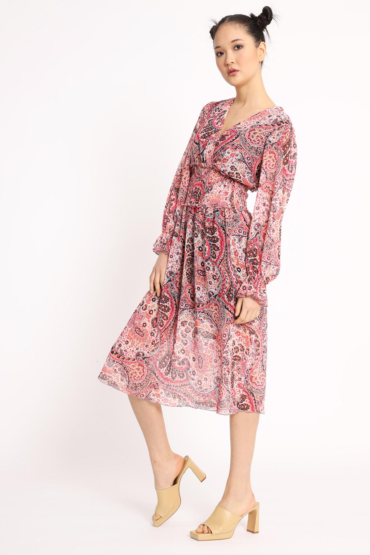Georgette Fancy Dress with Gathering