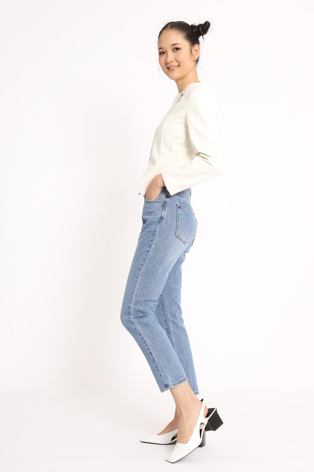 Regular Fit Cigarette Jeans