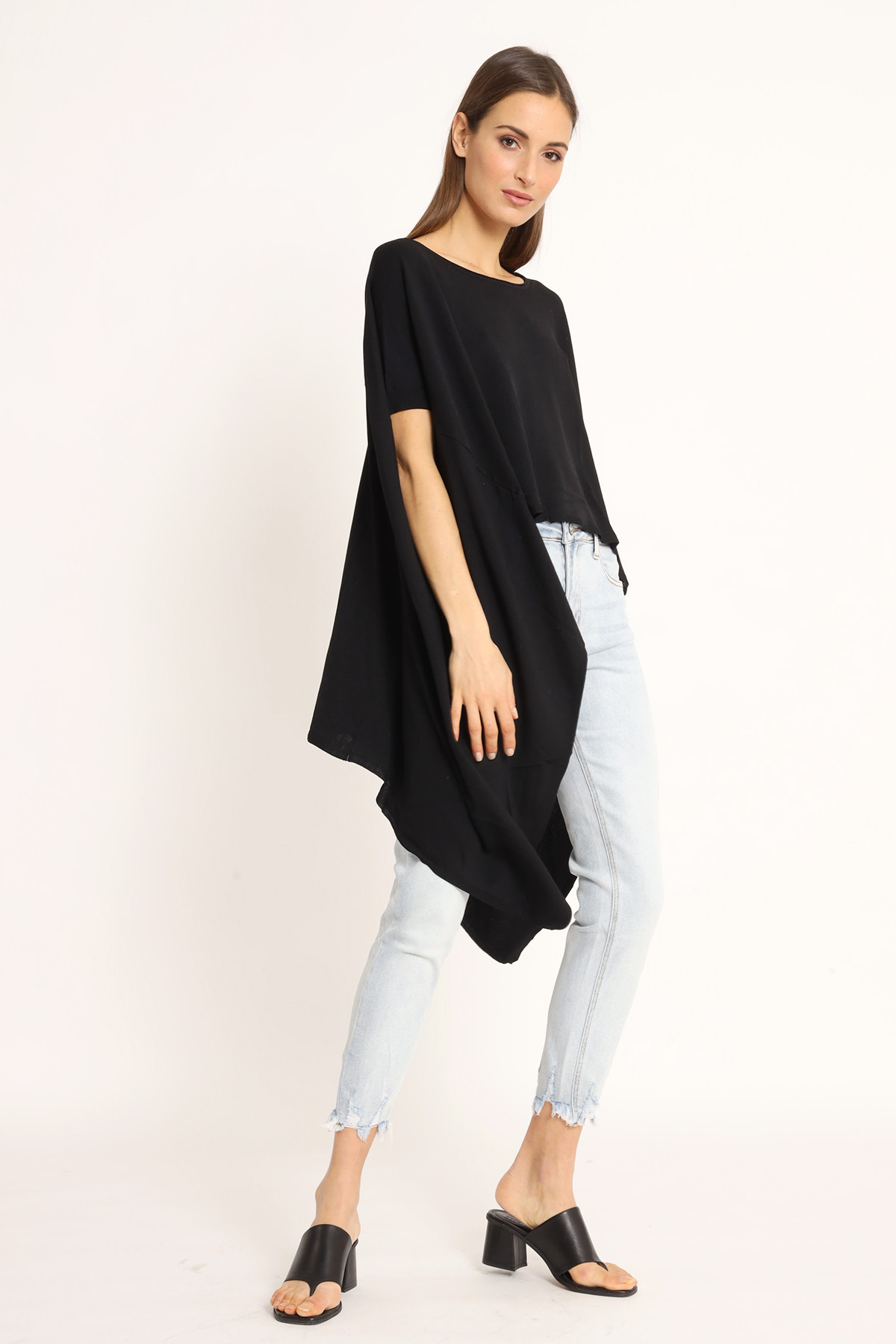 Poncho Style Over Sweater