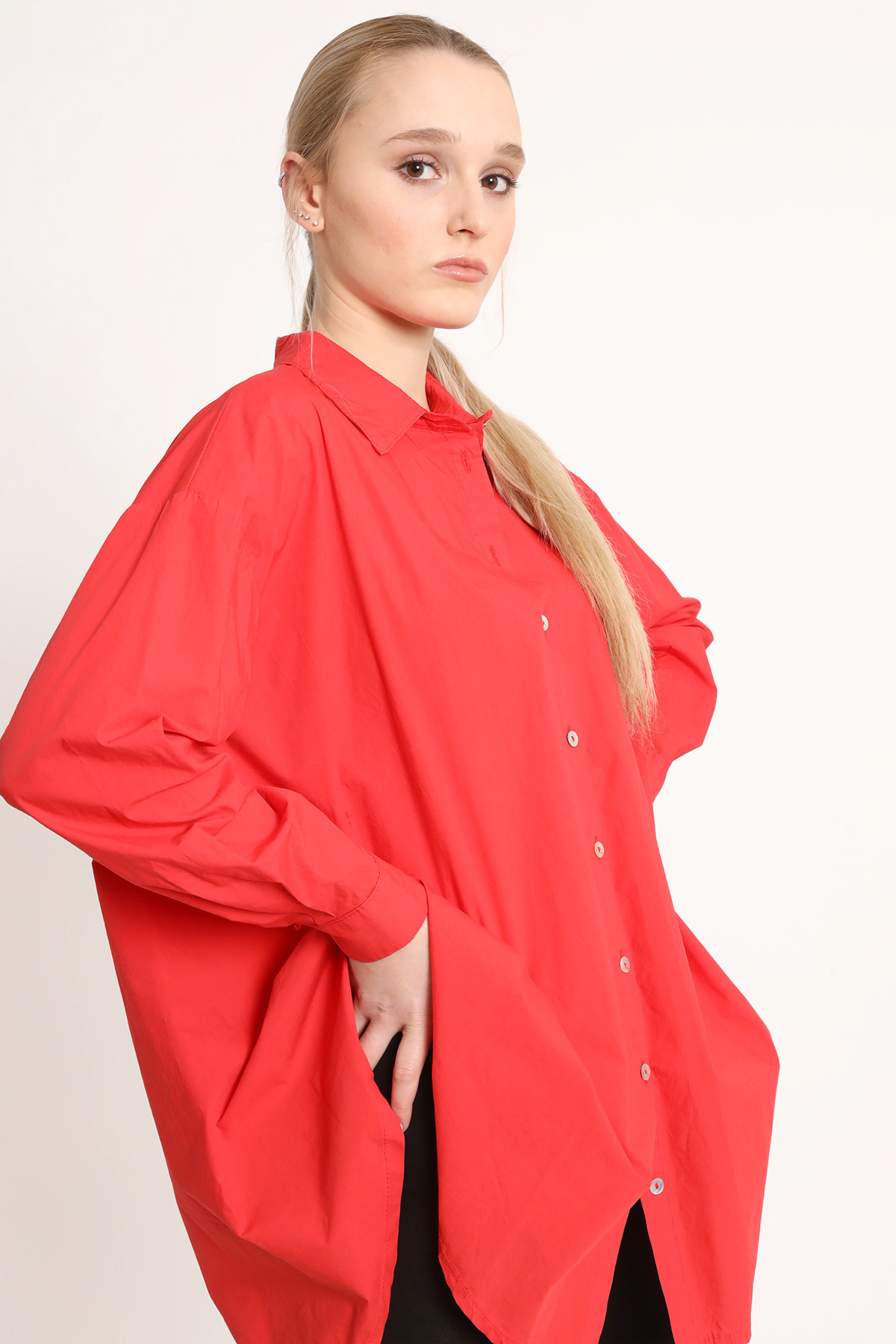 Over Size Cotton Shirt