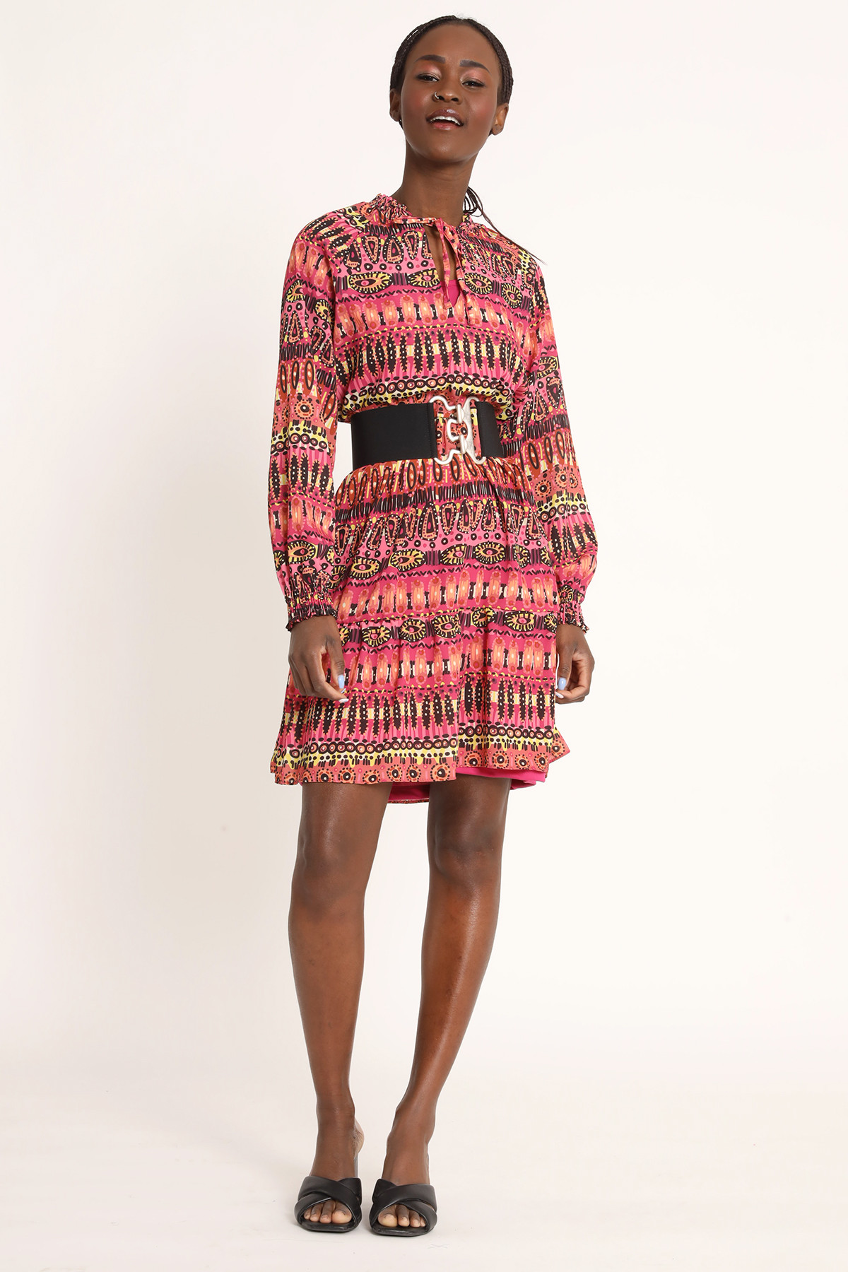 Afro Fantasy Dress with Curled Cuff