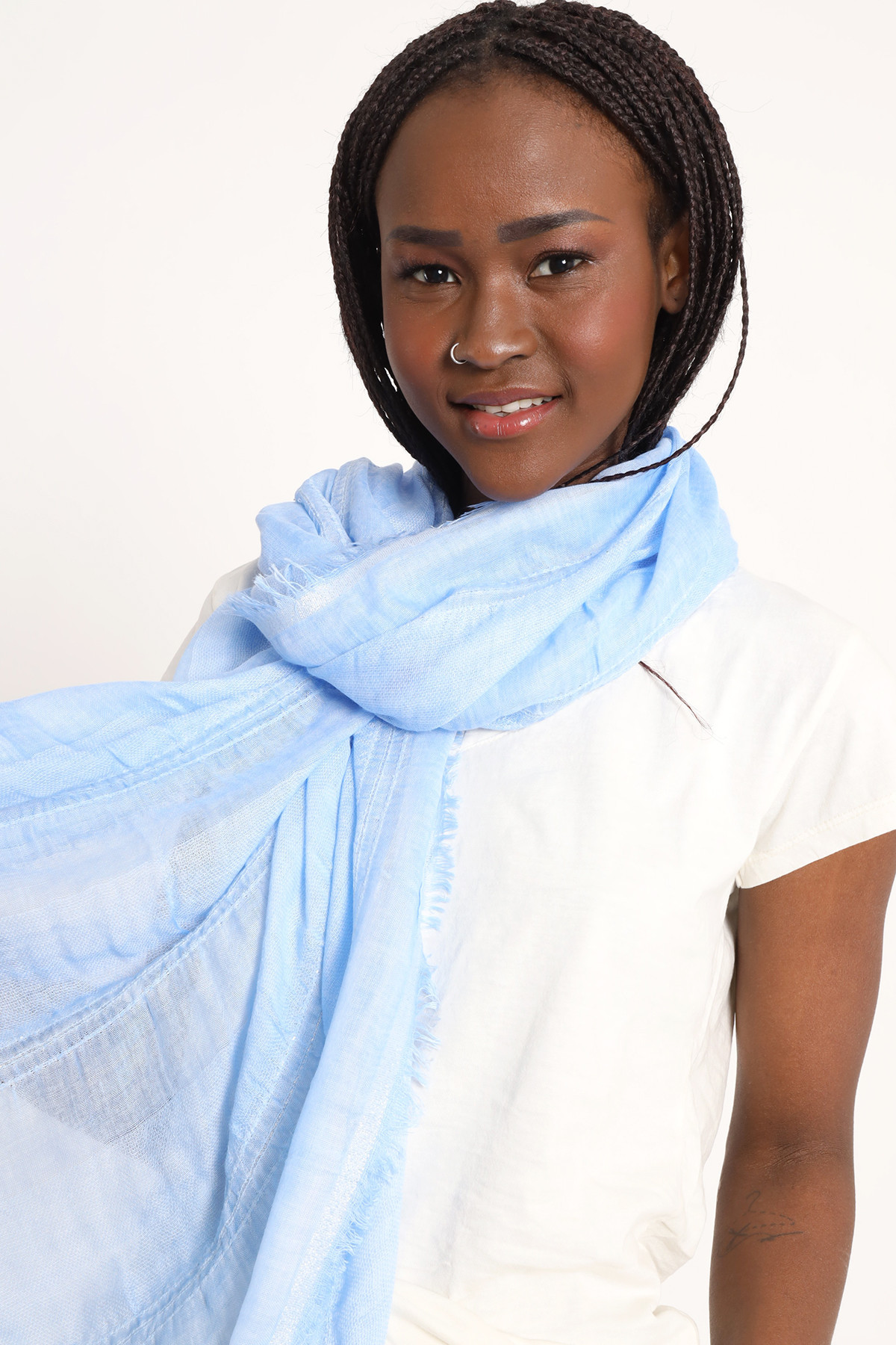 Foulard with Lurex Grafts