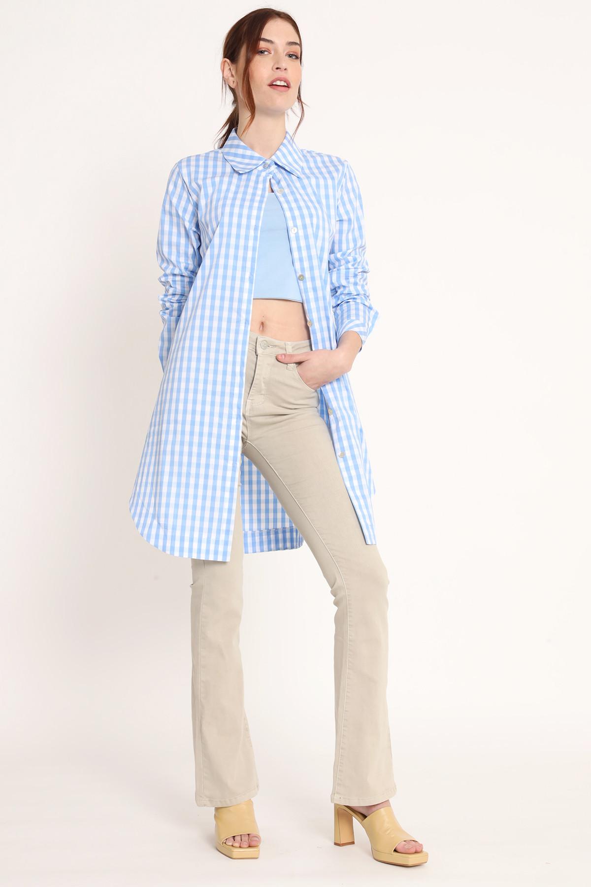 Long Shirt Vichy Pattern