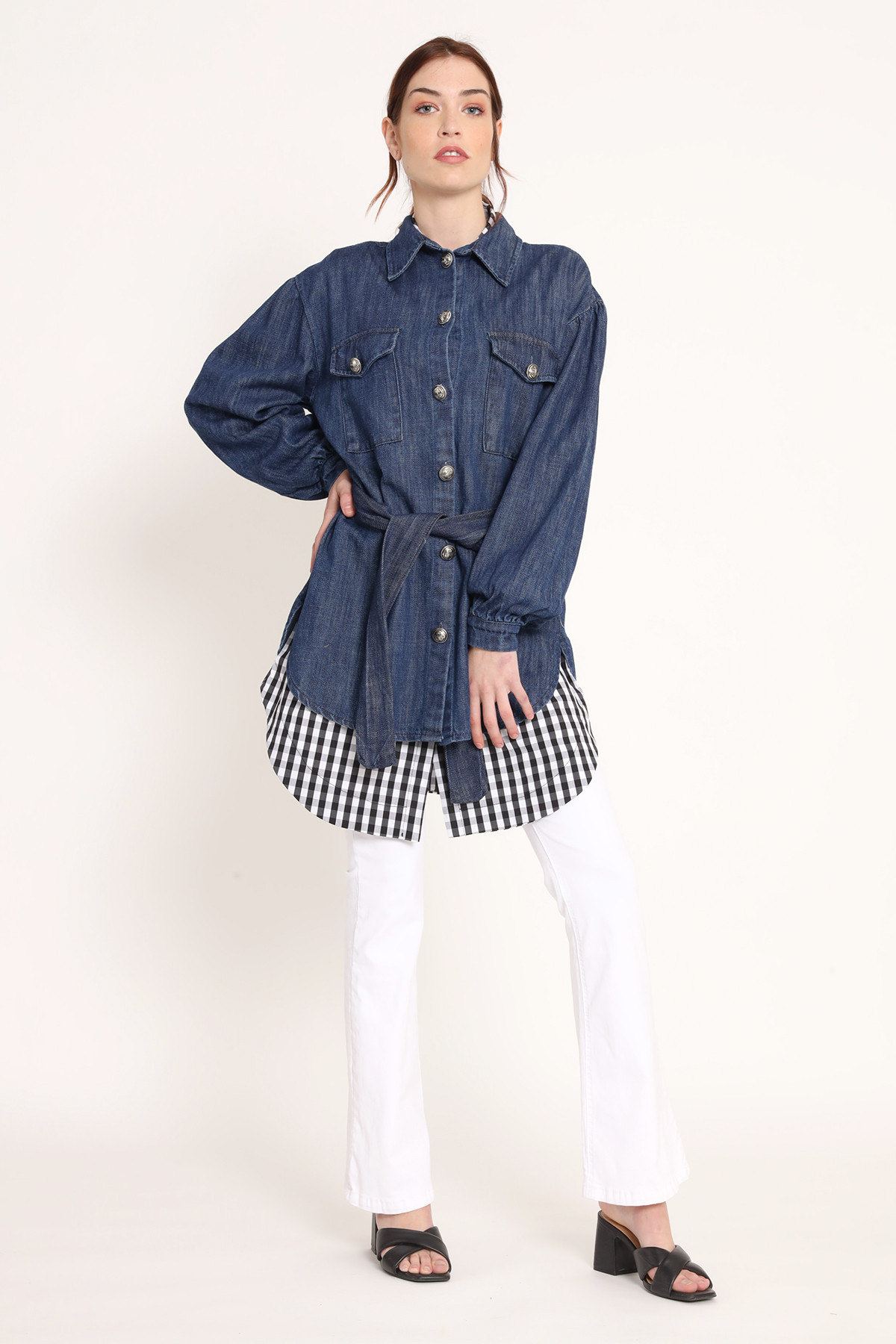 Over Denim Jacket with Balloon Sleeves