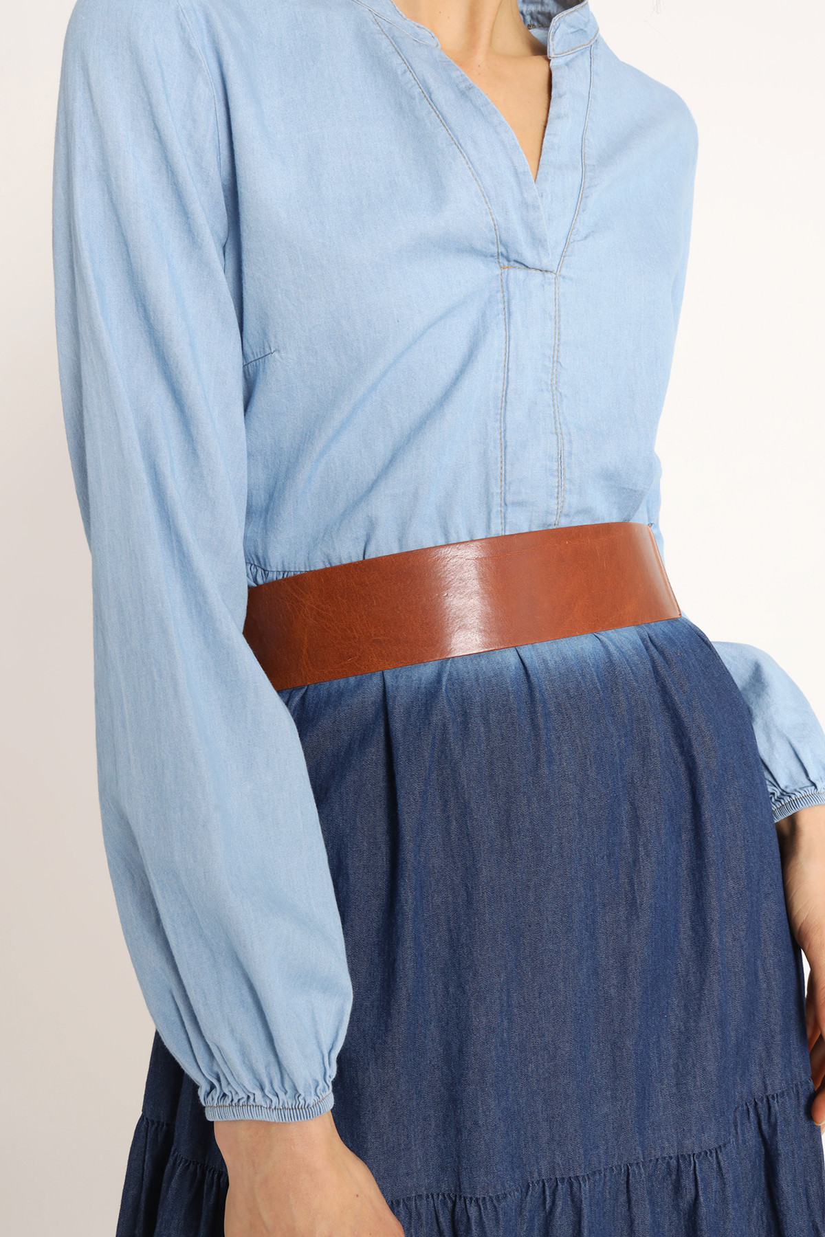Belt Without Buckle Button Closure