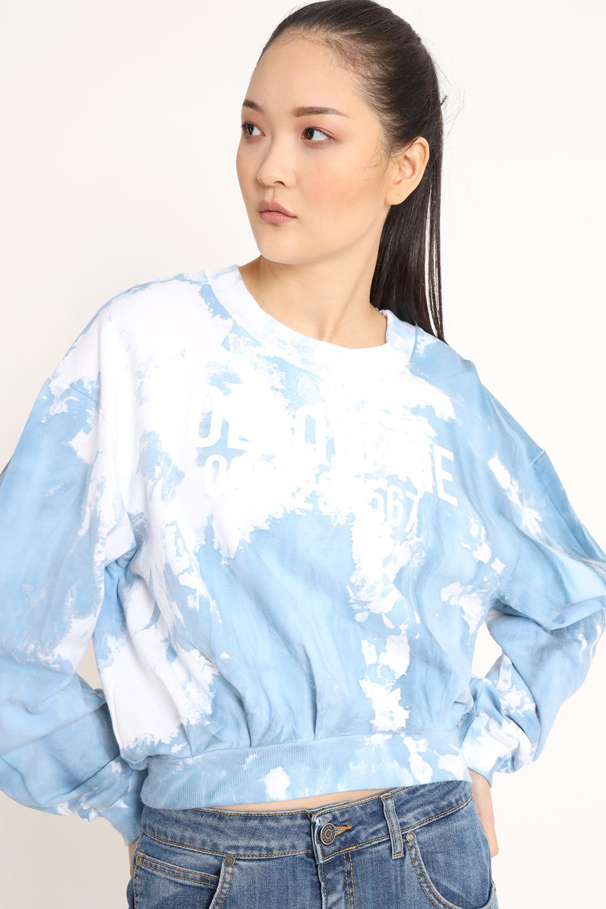 Tie Dye Drop Shoulder Crewneck Sweatshirt
