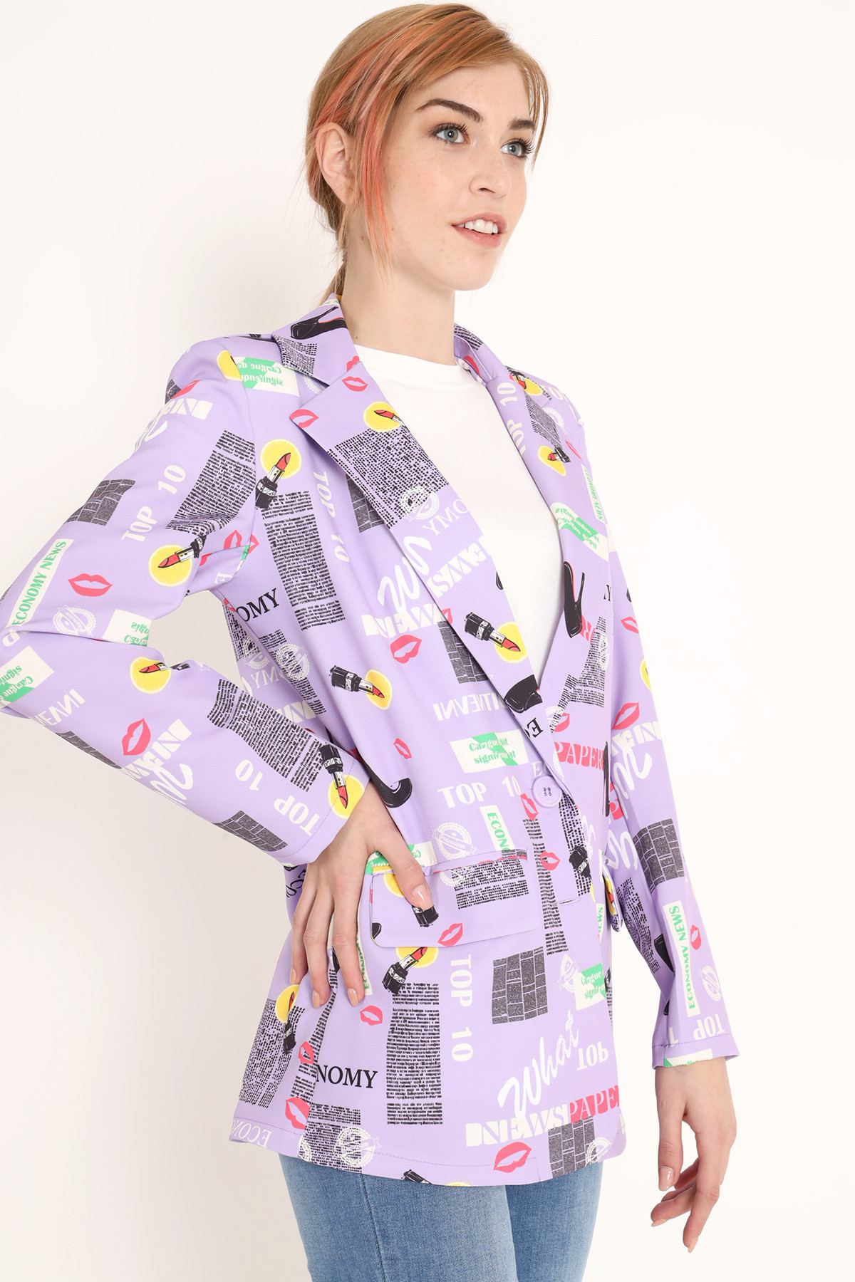 Printed Newspaper Printed Jacket