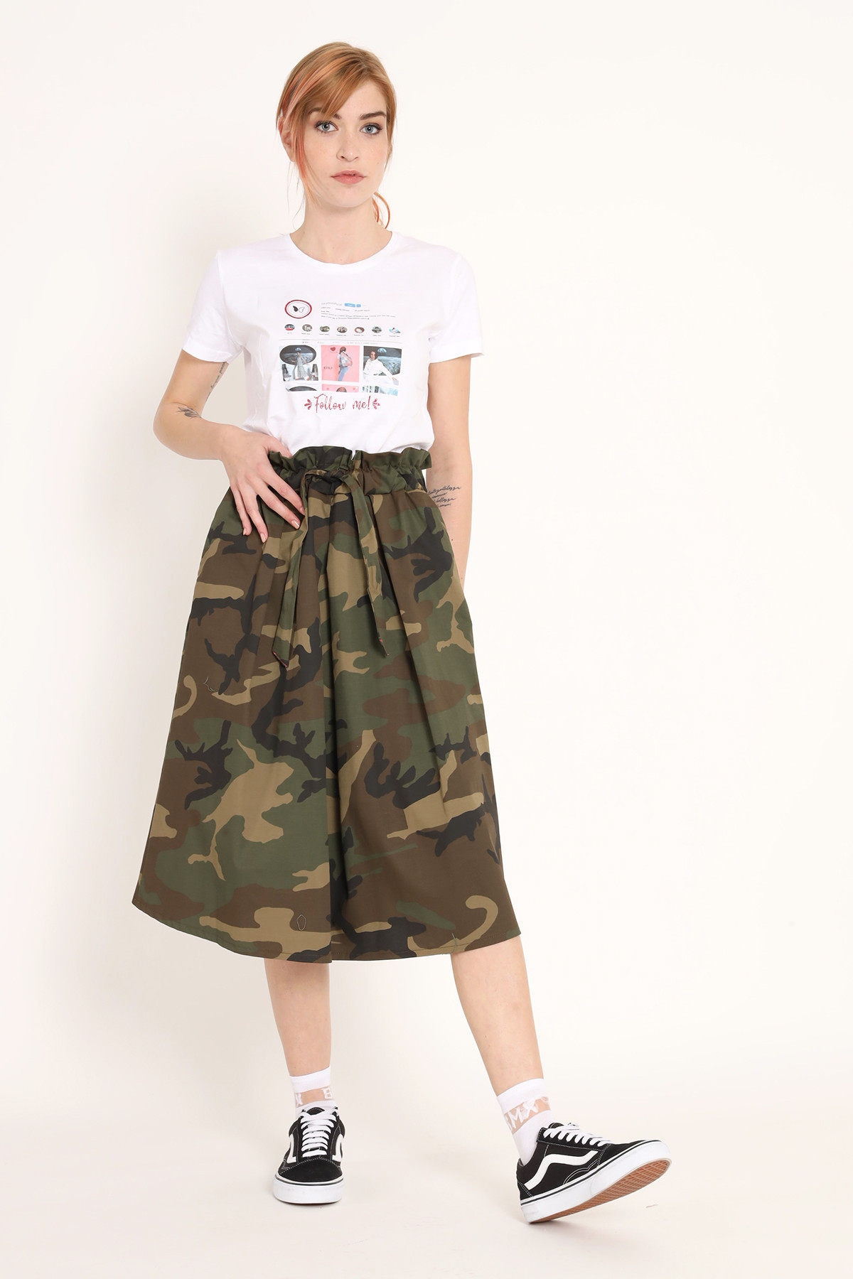 Camouflage Flared Skirt