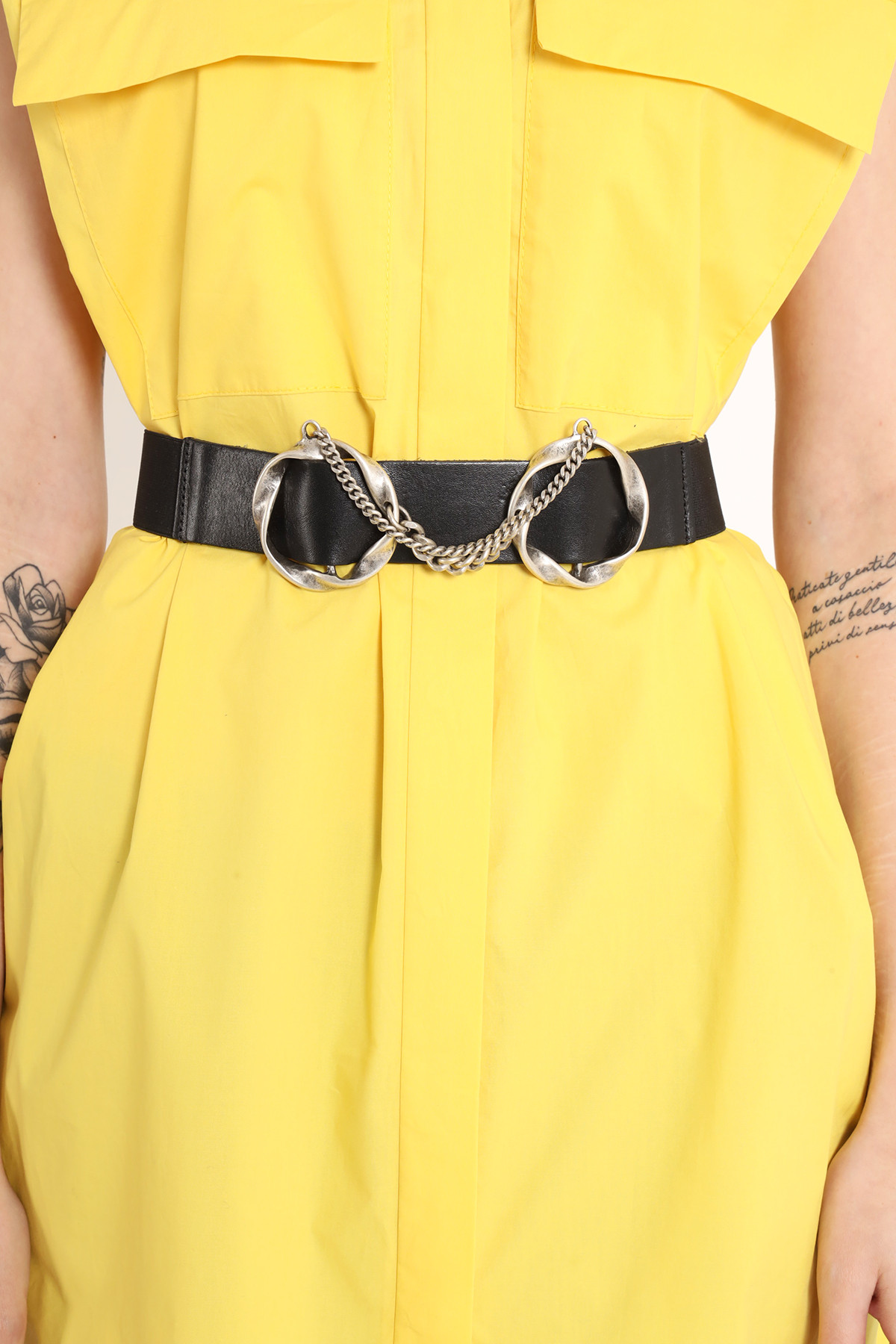 Double Buckle Belt with Chains
