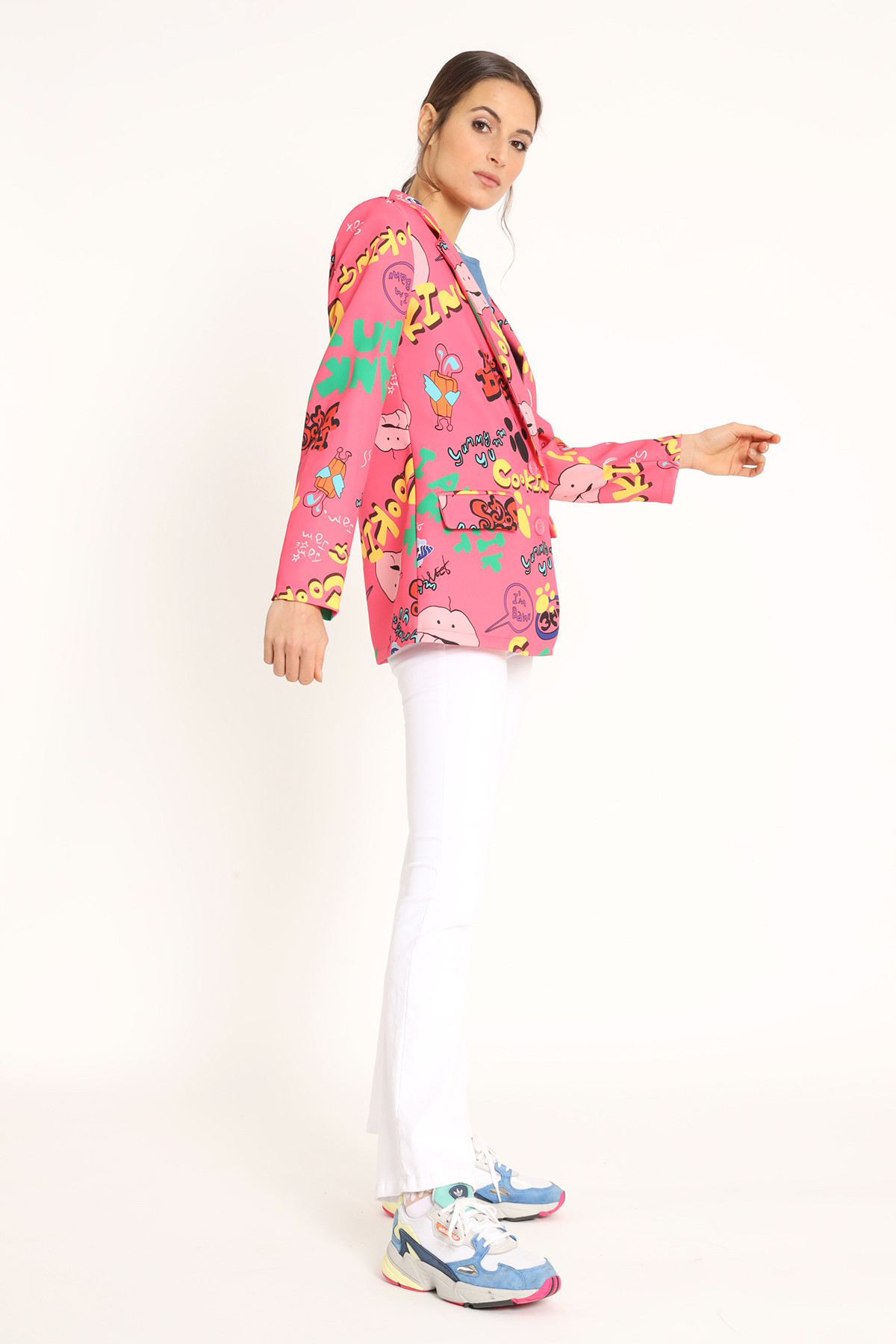 Long Tail Jacket in Fantasy Print
