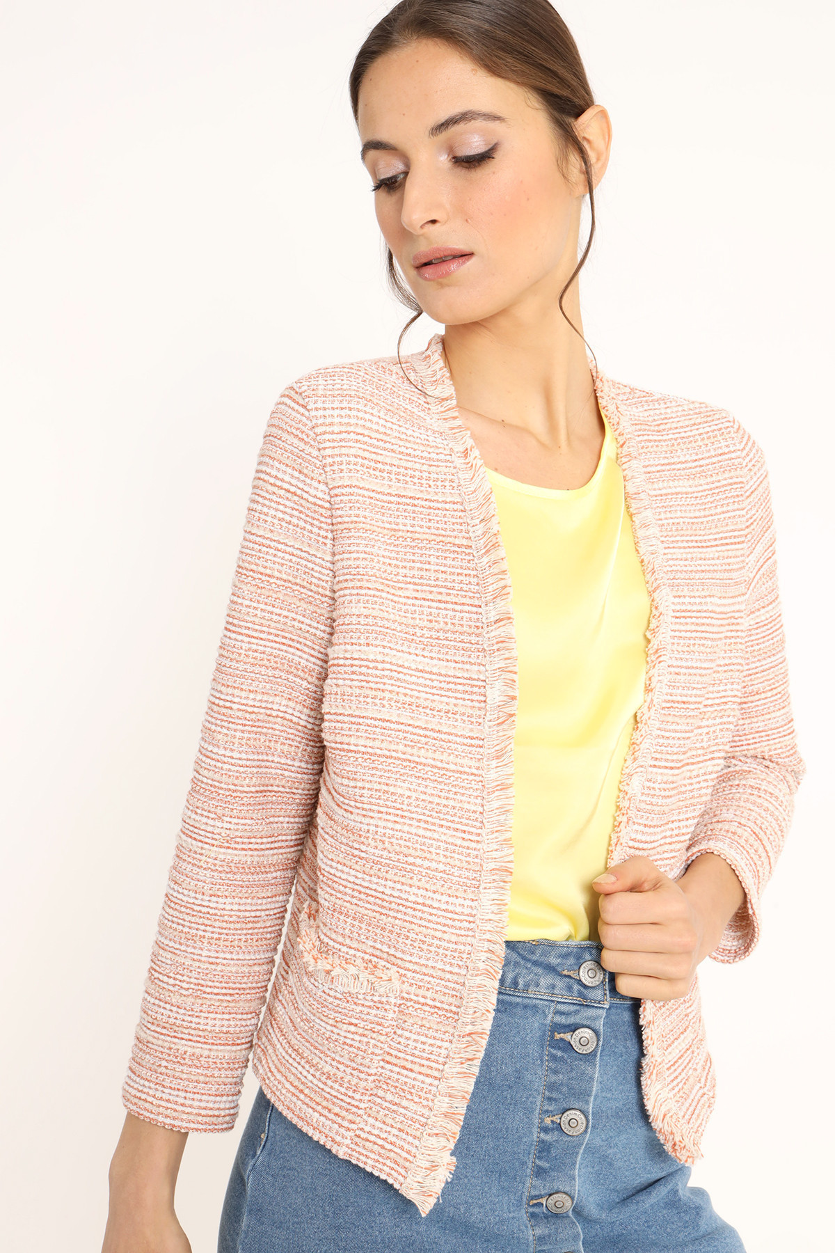 Jacket With Fringes and Lurex Inserts