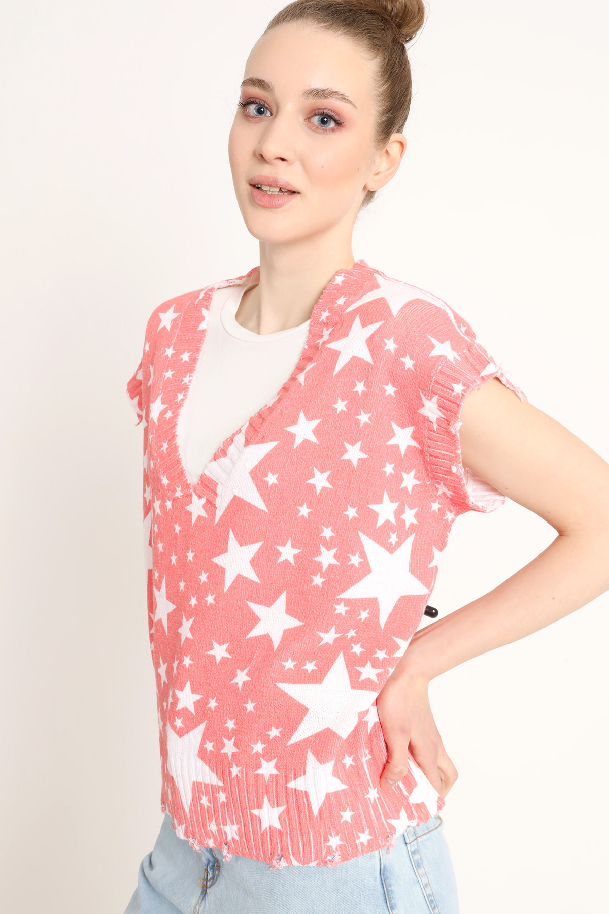Knitted Vest With Stars