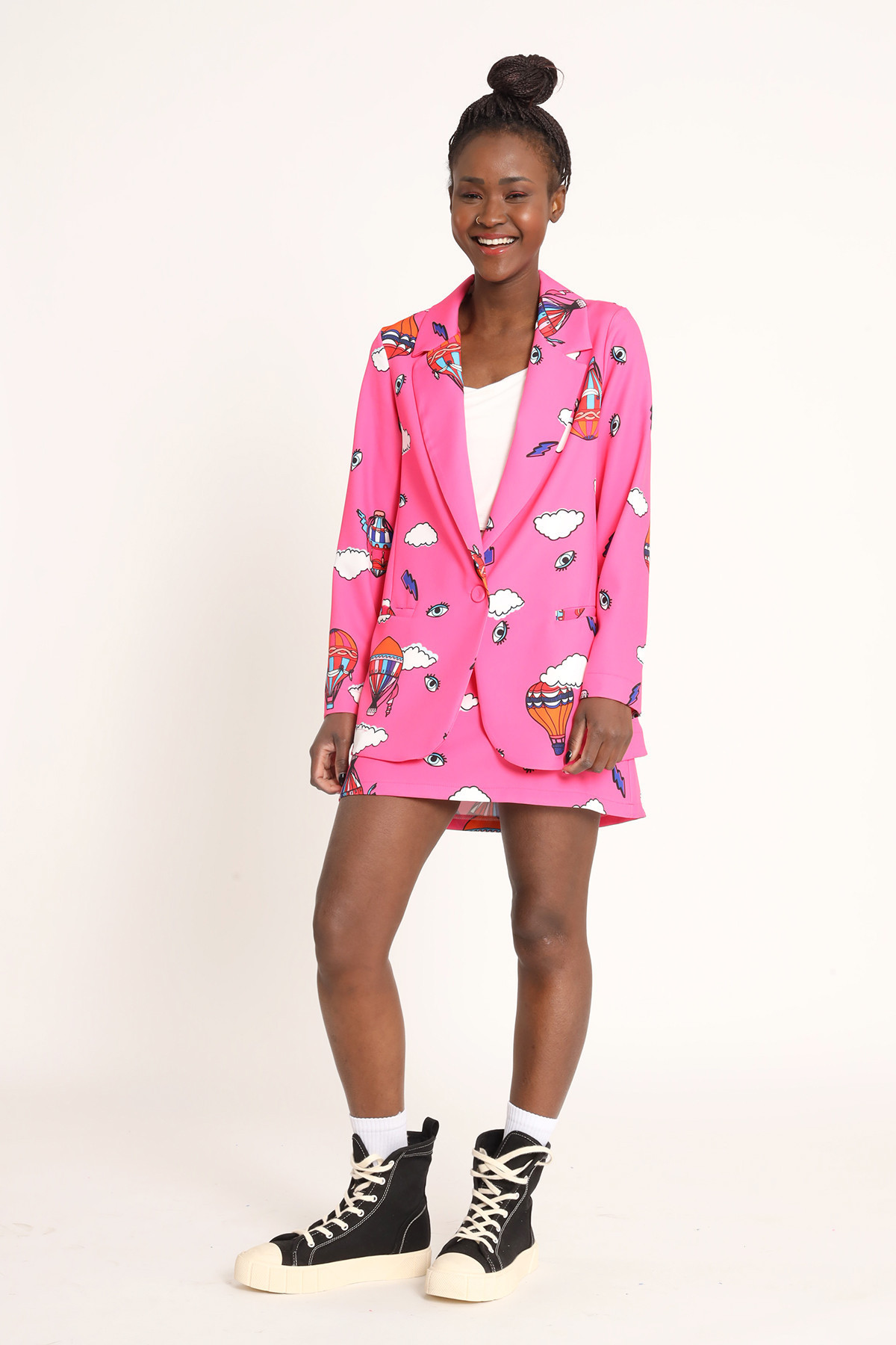 Long Tail Jacket with Prints