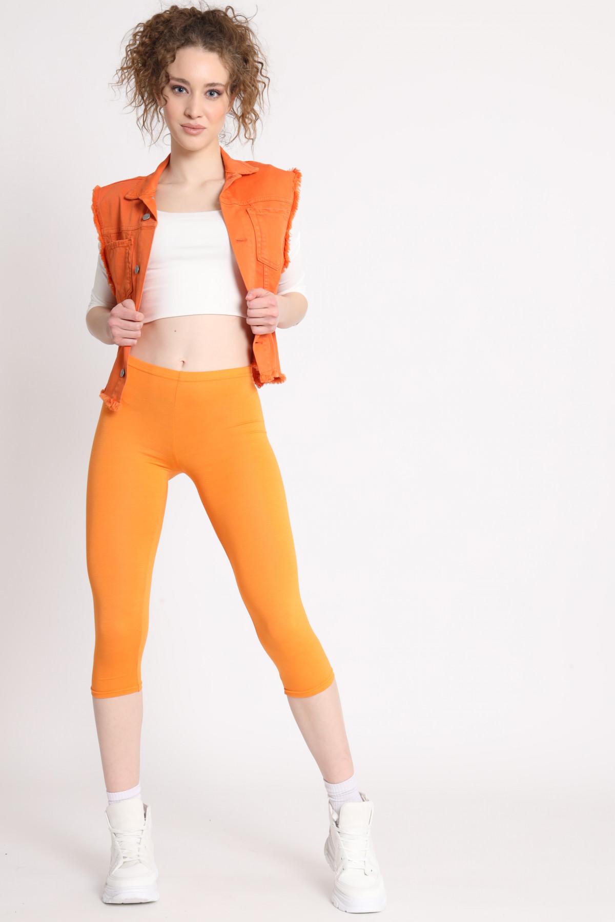 3/4 leggings in solid color