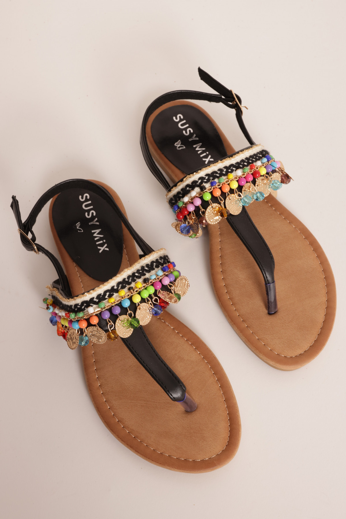 Sandal with Jewel Applications