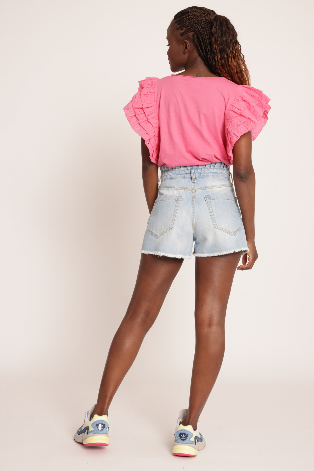 Candy Denim Shorts with Star