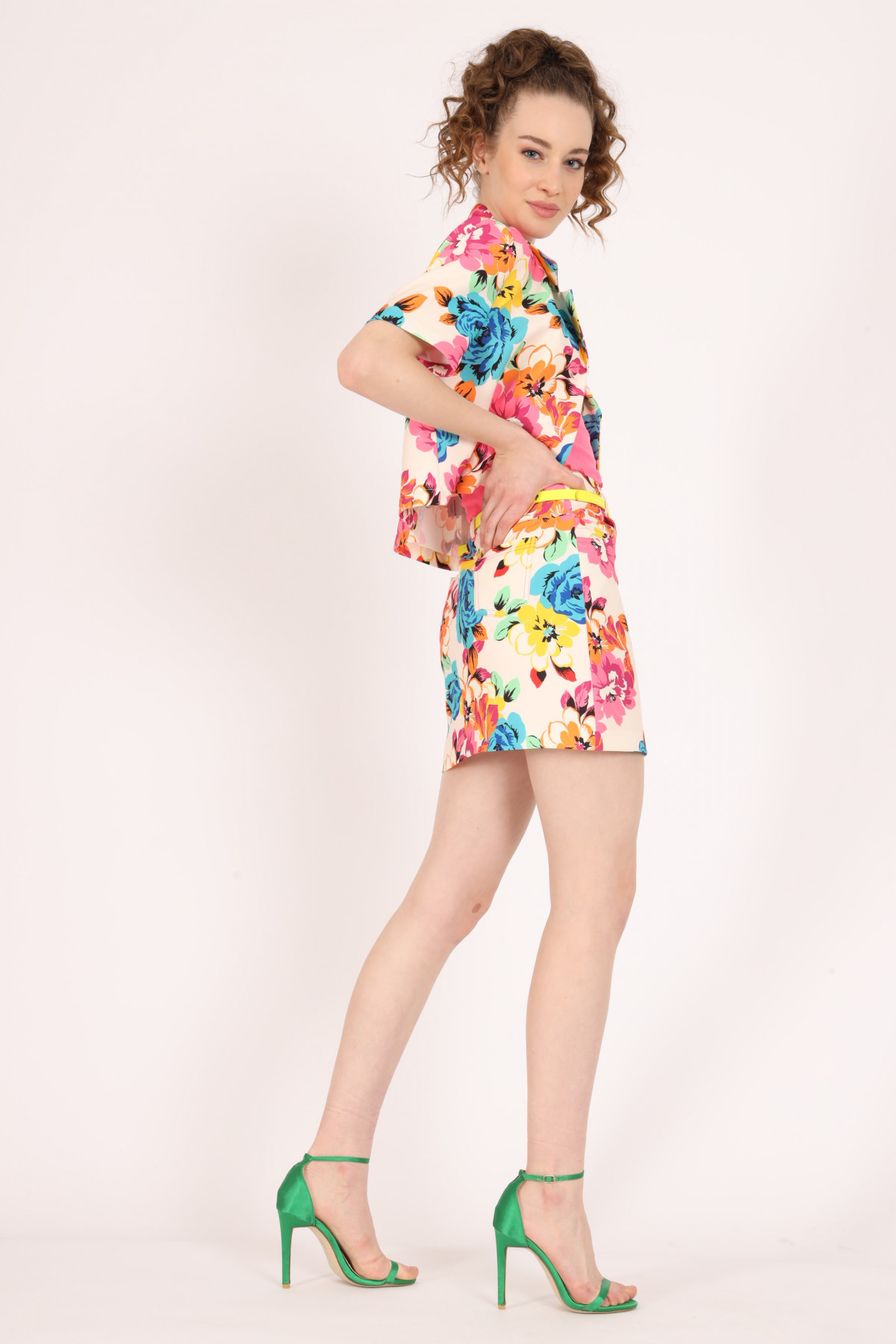 Floral Print Miniskirt
