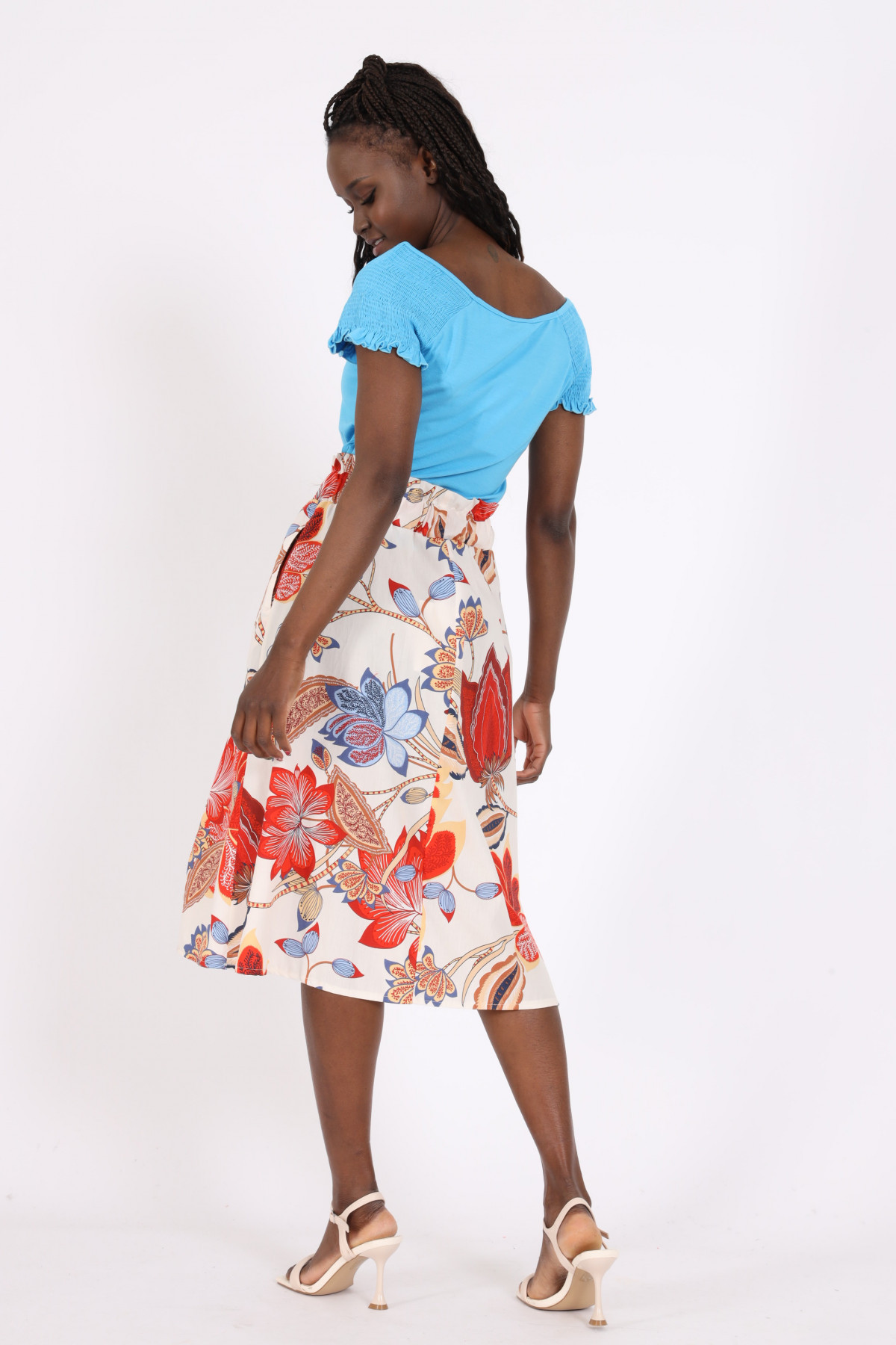 Floral Fantasy Print Candy Skirt
