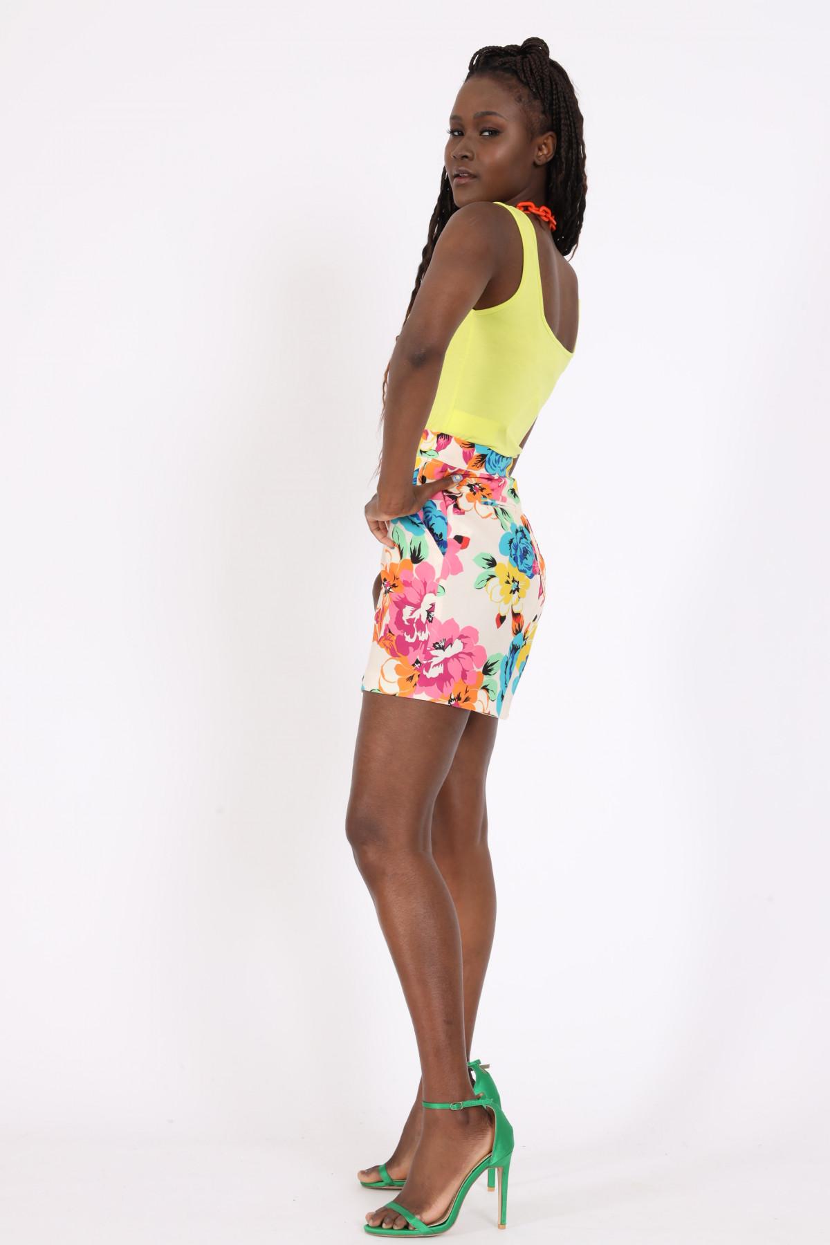 Floral Fantasy Print Shorts