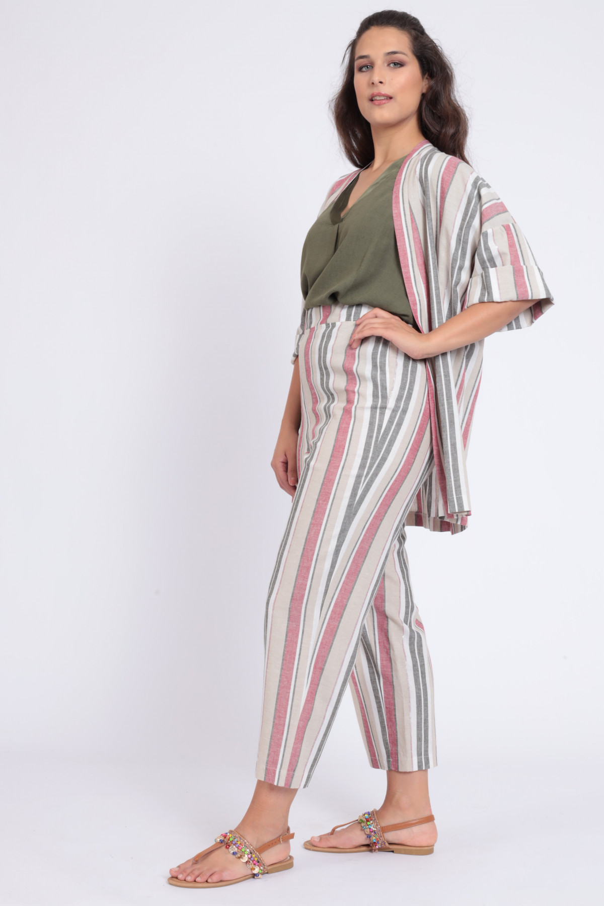 Susy Star Preview: Linen Pants with Cigarette Stripes