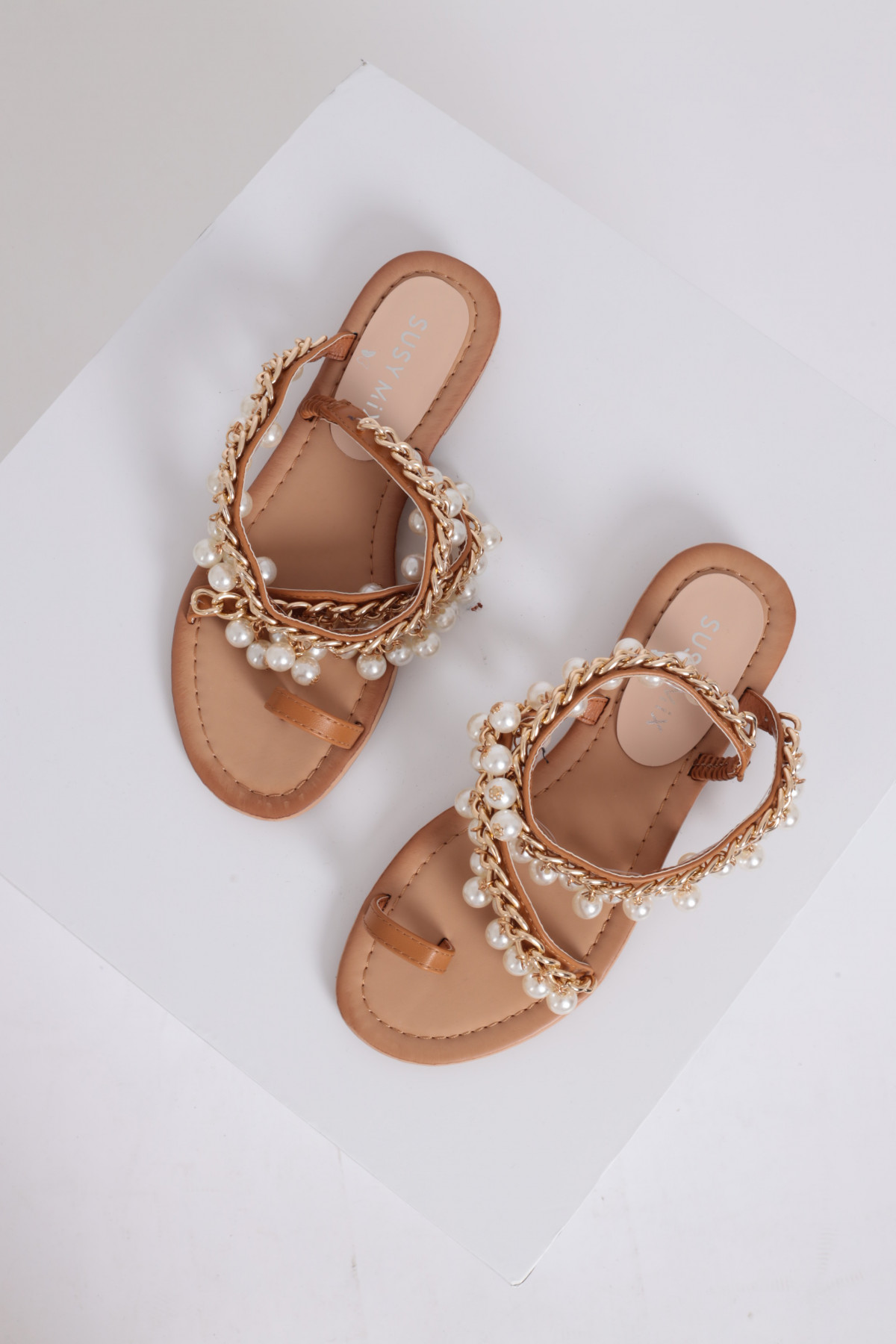 Sandal with Jewel Application