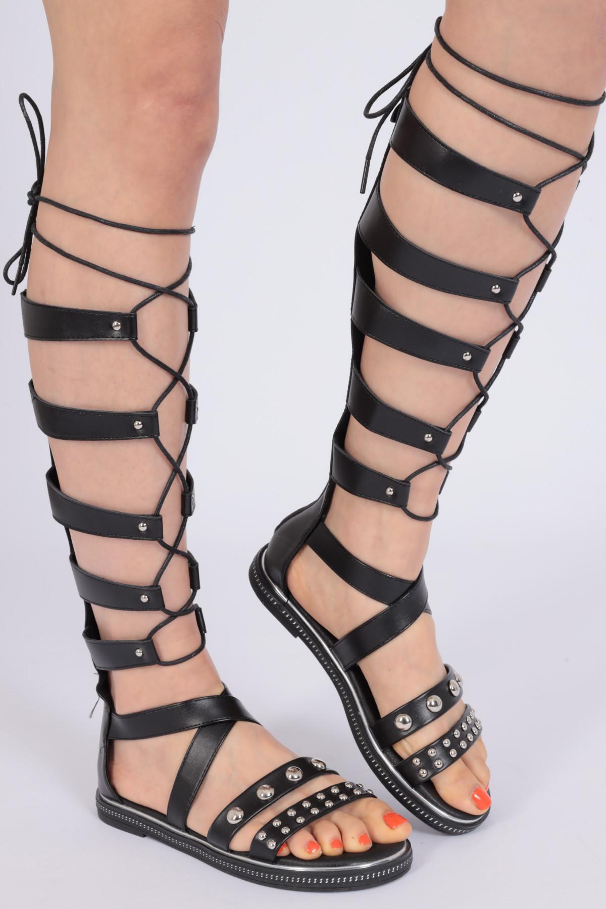 Studded Slave Sandal