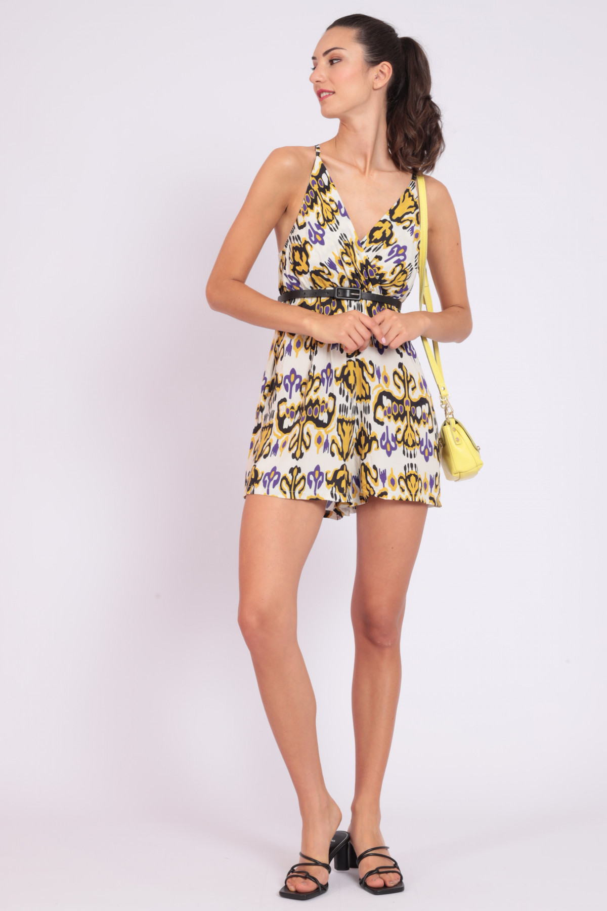 Jumpsuit with Optical Fantasy Print Shorts