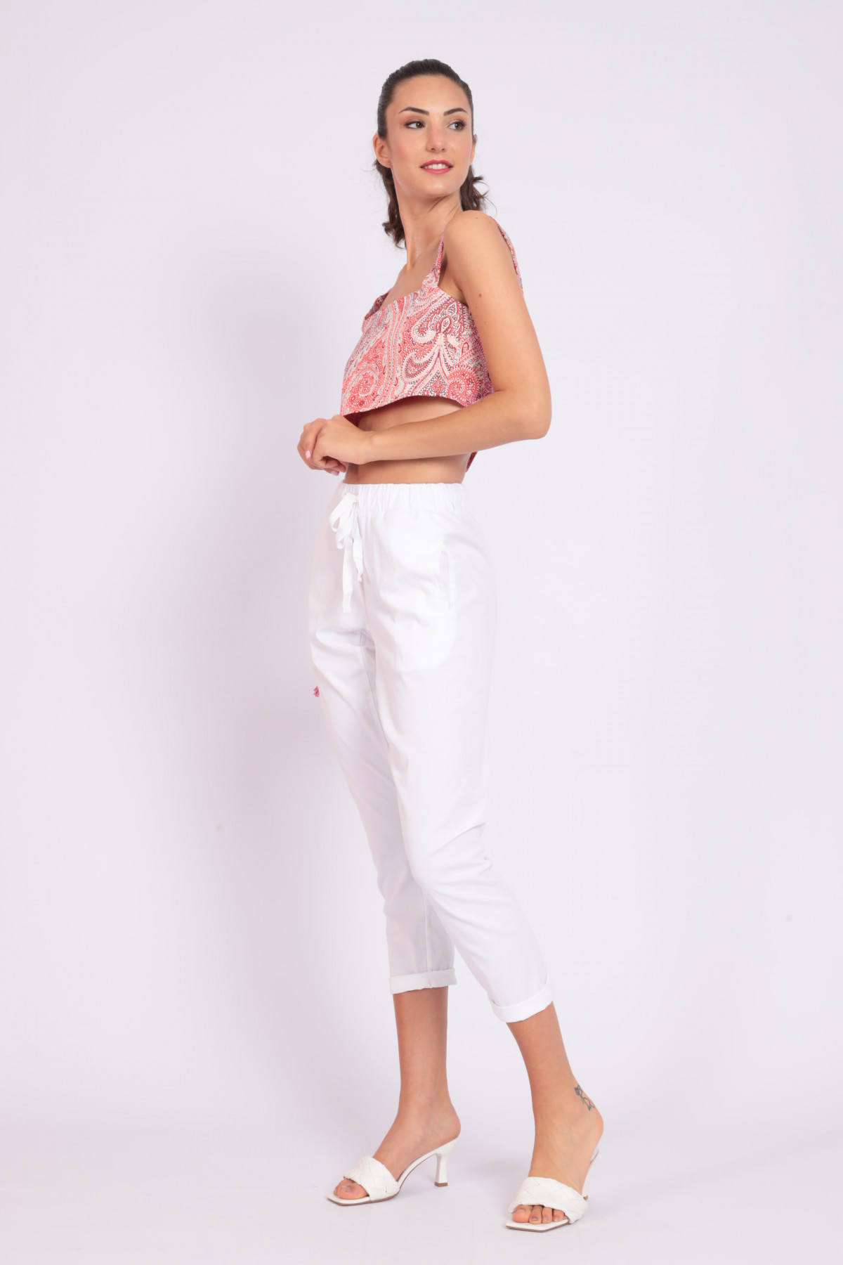 Pantalone a Sigaretta con Coulisse