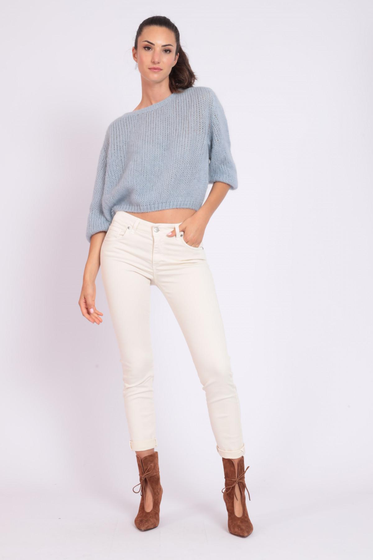 Skinny Garment Dyed 5 Pockets Jeans