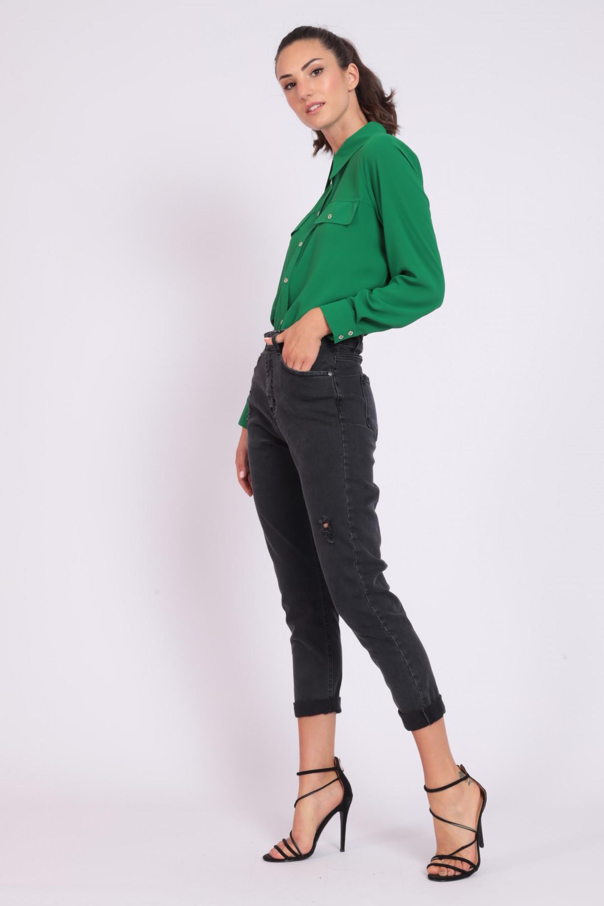 5 Pockets Cigarette High Waist Jeans