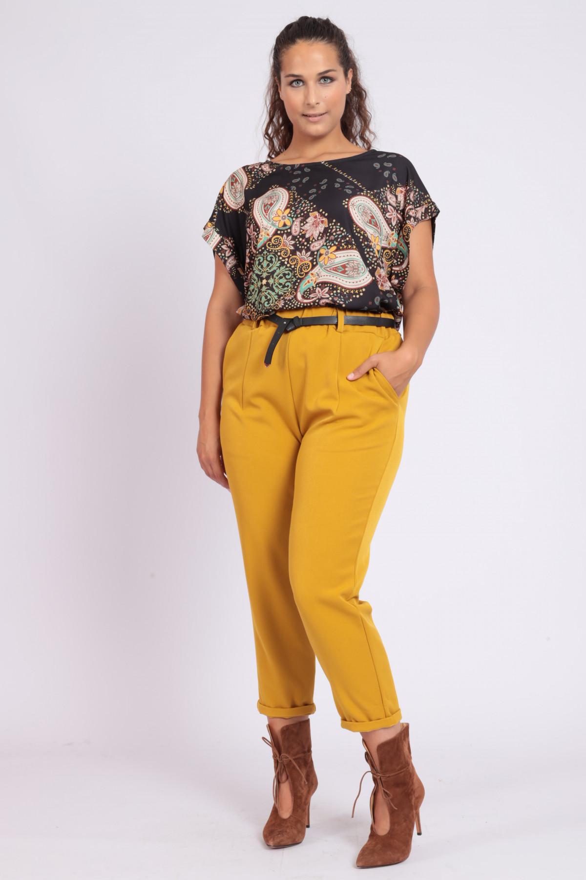 Chino Pocket Pants with Elasticated Waist