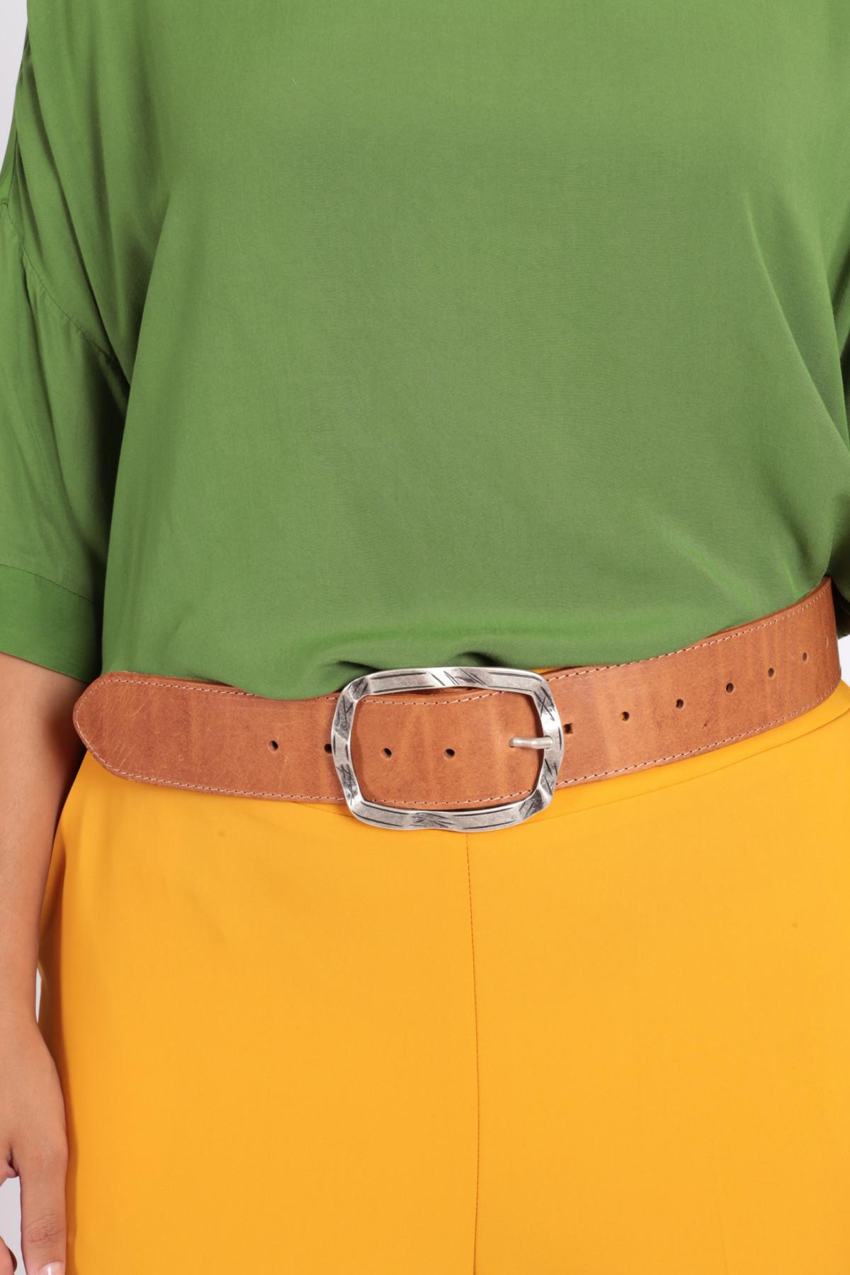 Cintura con Fibbia Ondulata
