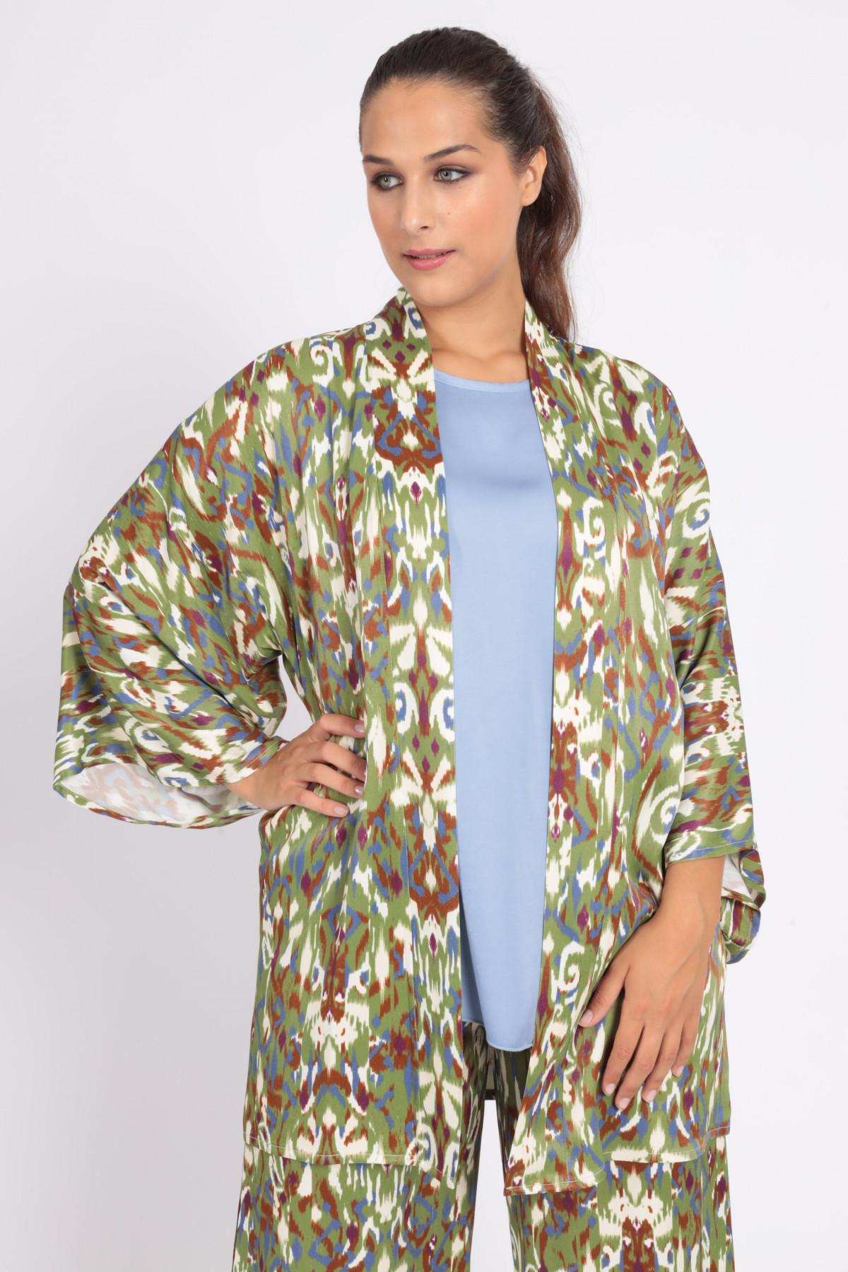 Kimono in Stampa Fantasia Rorschach Multicolor