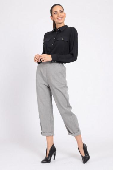 Pantaloni Gessati Tasca Chino Boy Fit