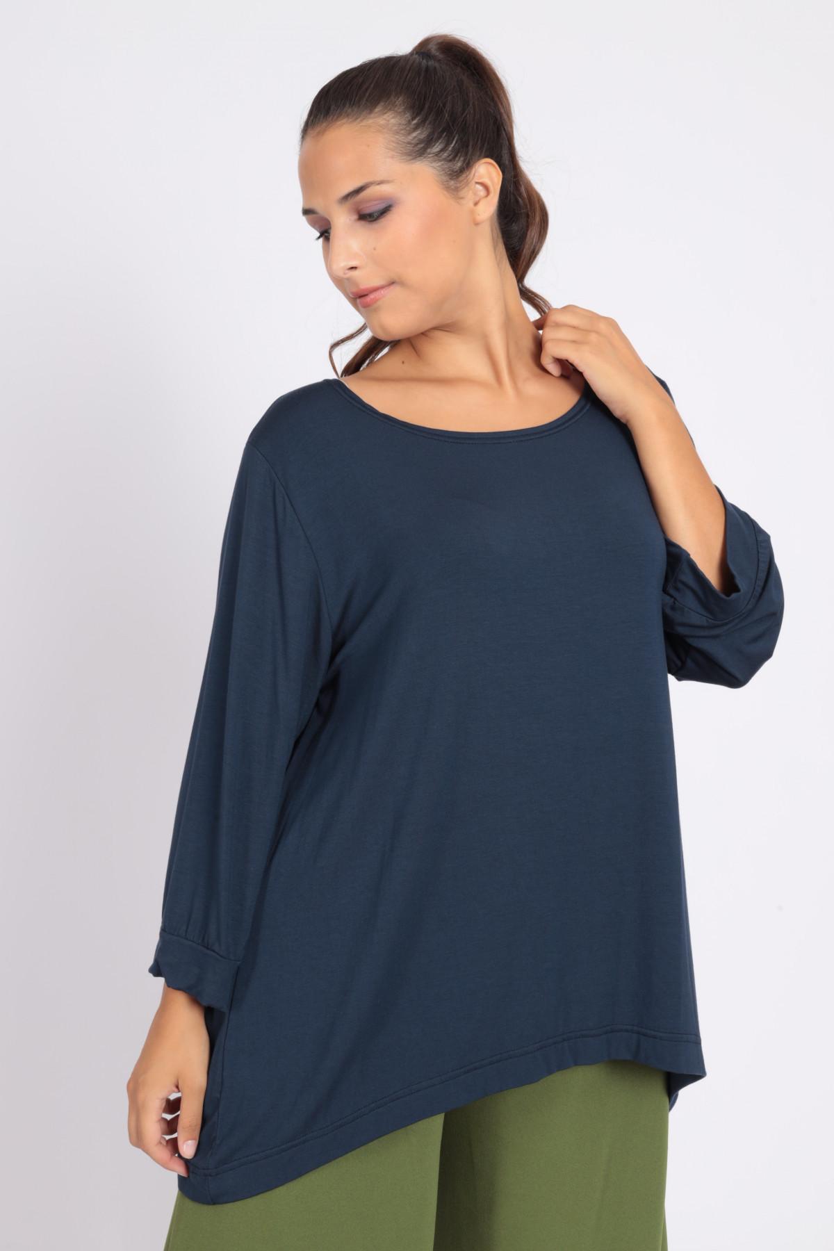 Long Sleeve Over T-Shirt Asymmetrical Bottom