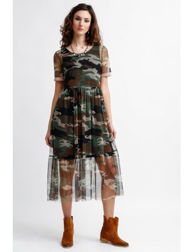 Abito Tulle Camouflage