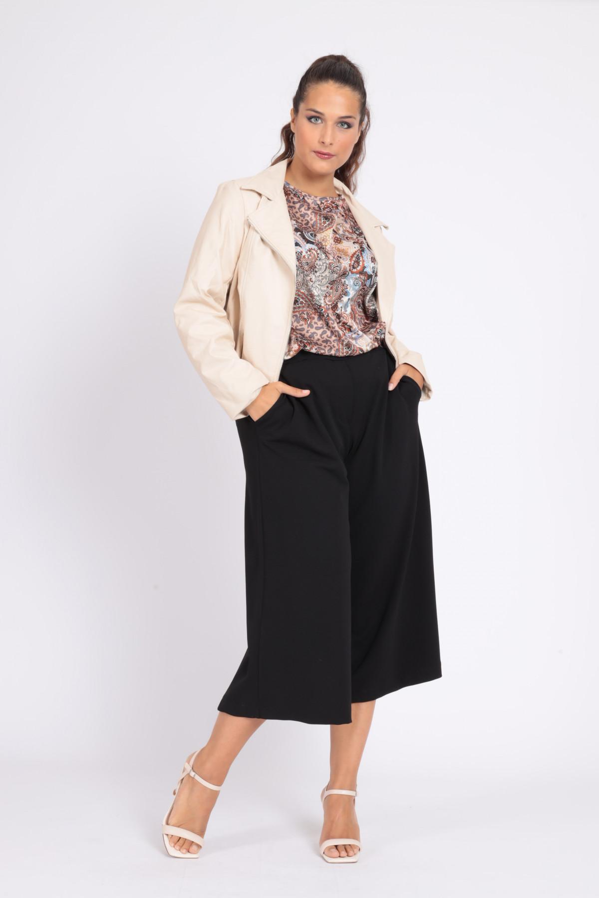 Pantaloni Gaucho con Vita Elasticizzata
