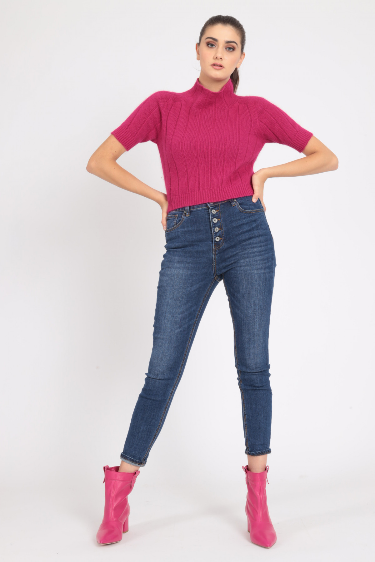 Jeans 5 Tasche Vita alta Skinny