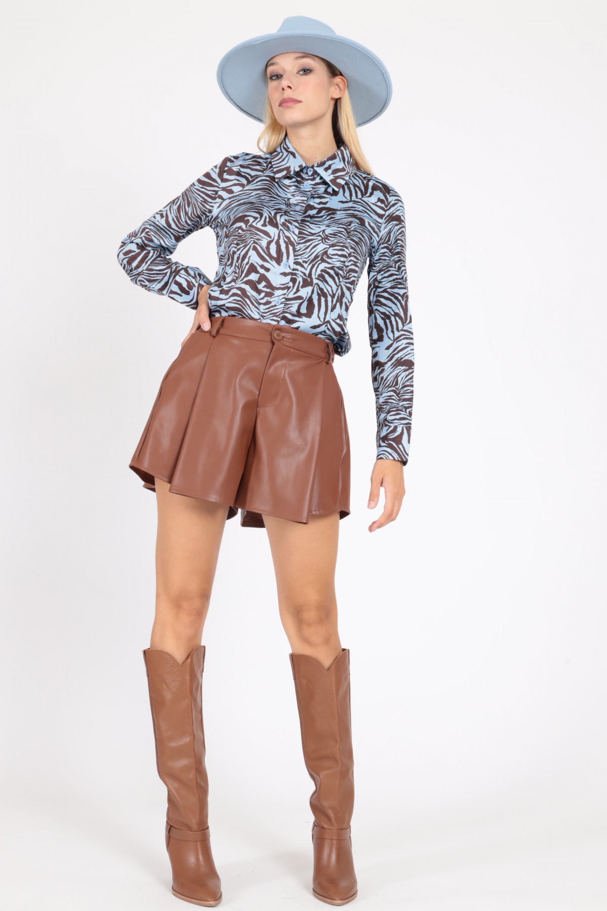 Shorts Ecopelle a Ruota