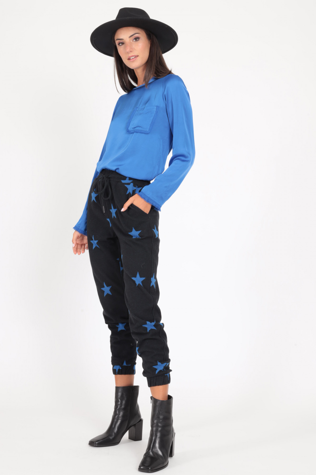 Pantaloni Stile Jogger in Stampa Fantasia Stella
