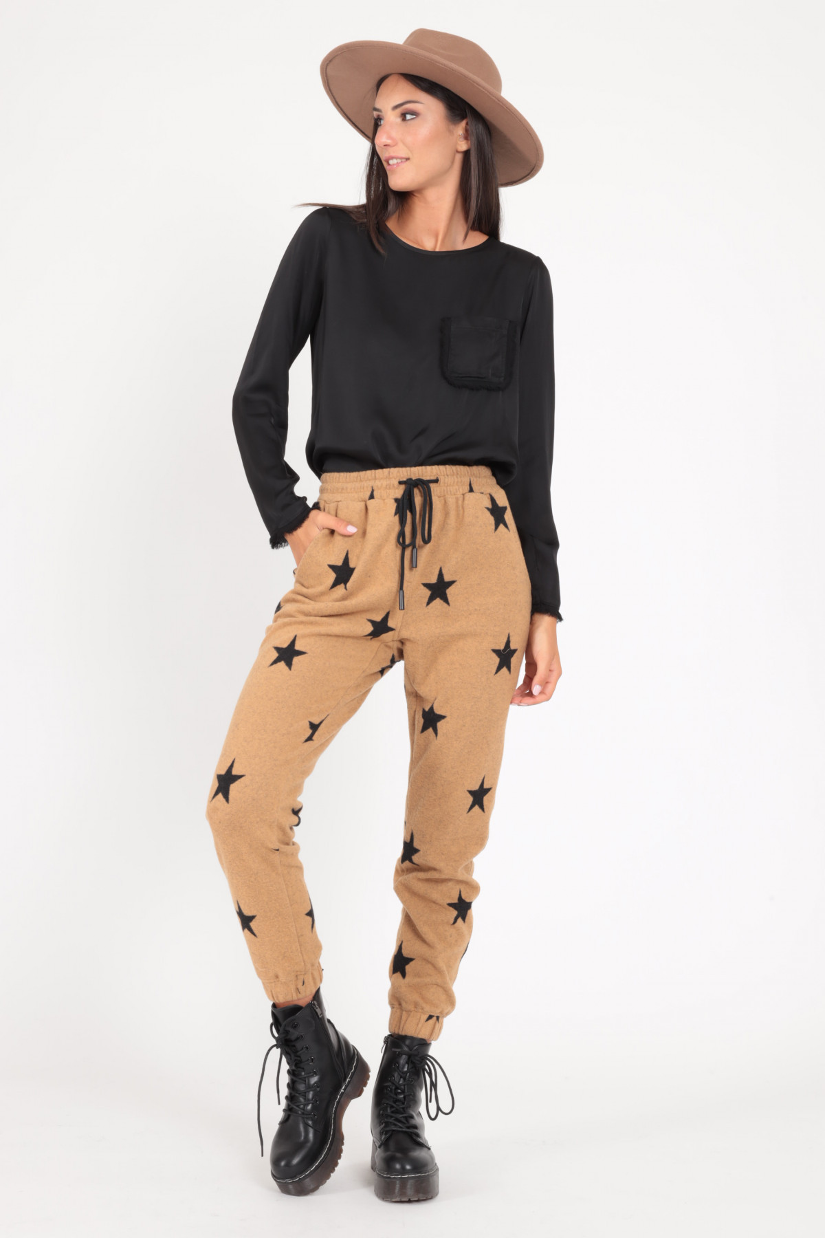 Jogger Style Pants in Star Fantasy Print